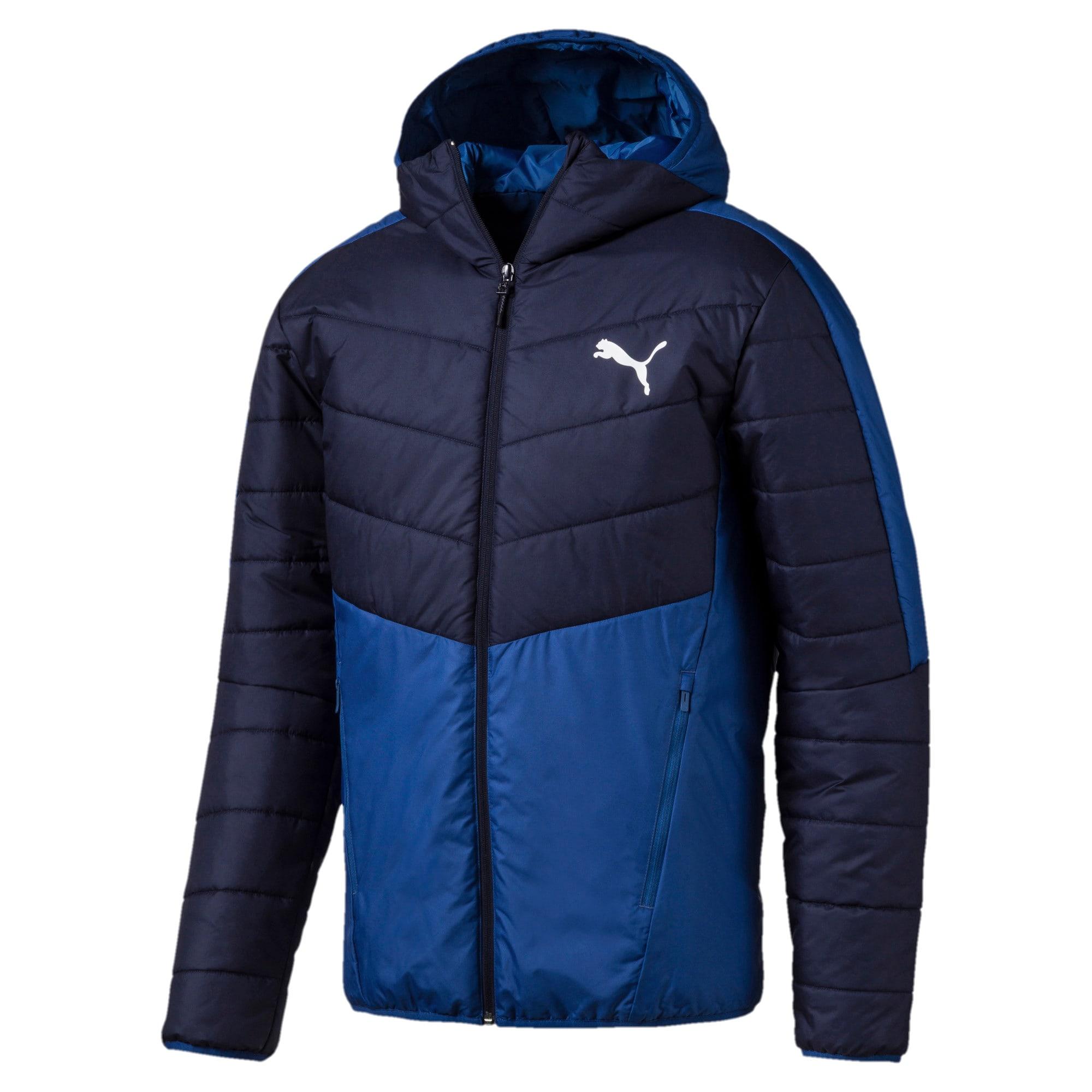 Thumbnail 1 of warmCELL Men's Padded Jacket, Galaxy Blue-Peacoat, medium