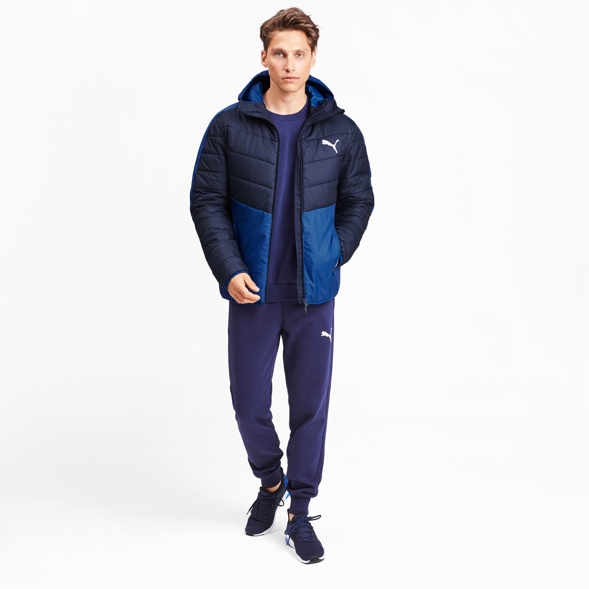 Thumbnail 4 of warmCELL Men's Padded Jacket, Galaxy Blue-Peacoat, medium