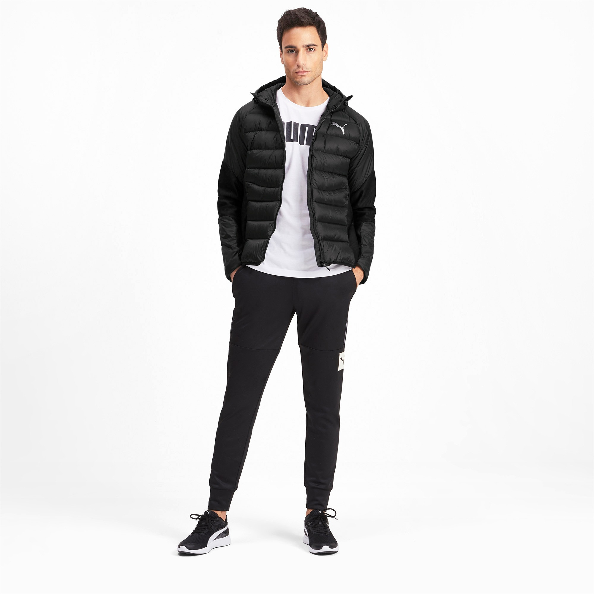 Thumbnail 3 of 600 Hybrid Down Men's Jacket, Puma Black, medium