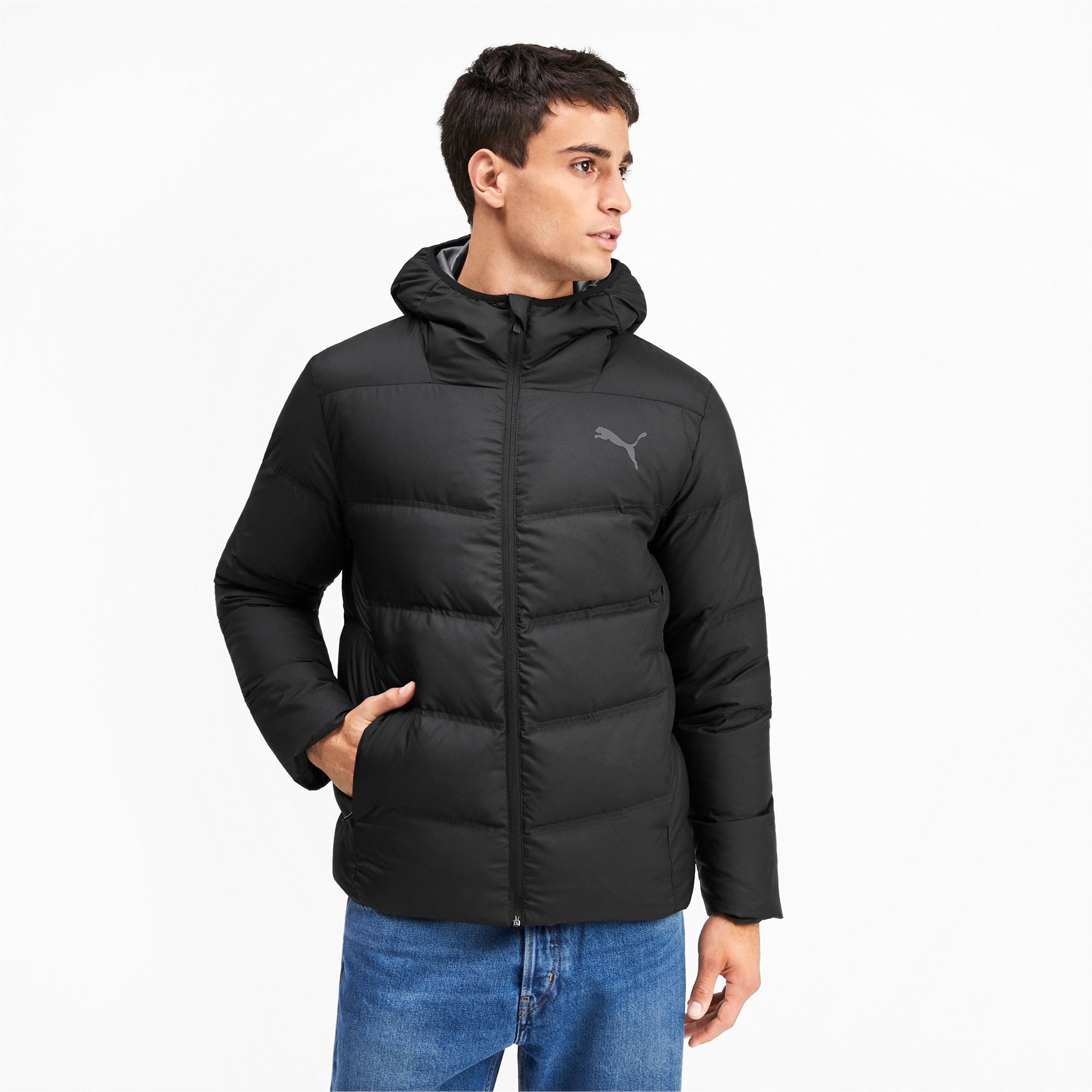 Thumbnail 1 of Essentials 400 Down HD Men's Jacket, Puma Black, medium