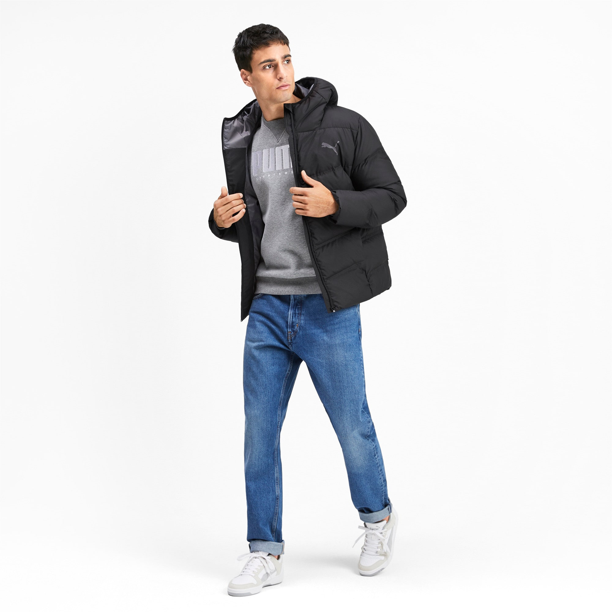 Thumbnail 3 of Essentials 400 Down HD Men's Jacket, Puma Black, medium