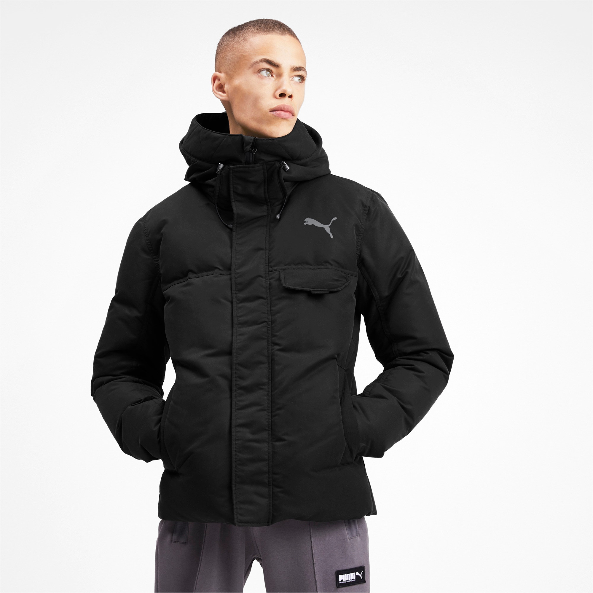 Thumbnail 1 of Streetstyle 480 HD Down Men's Jacket, Puma Black, medium