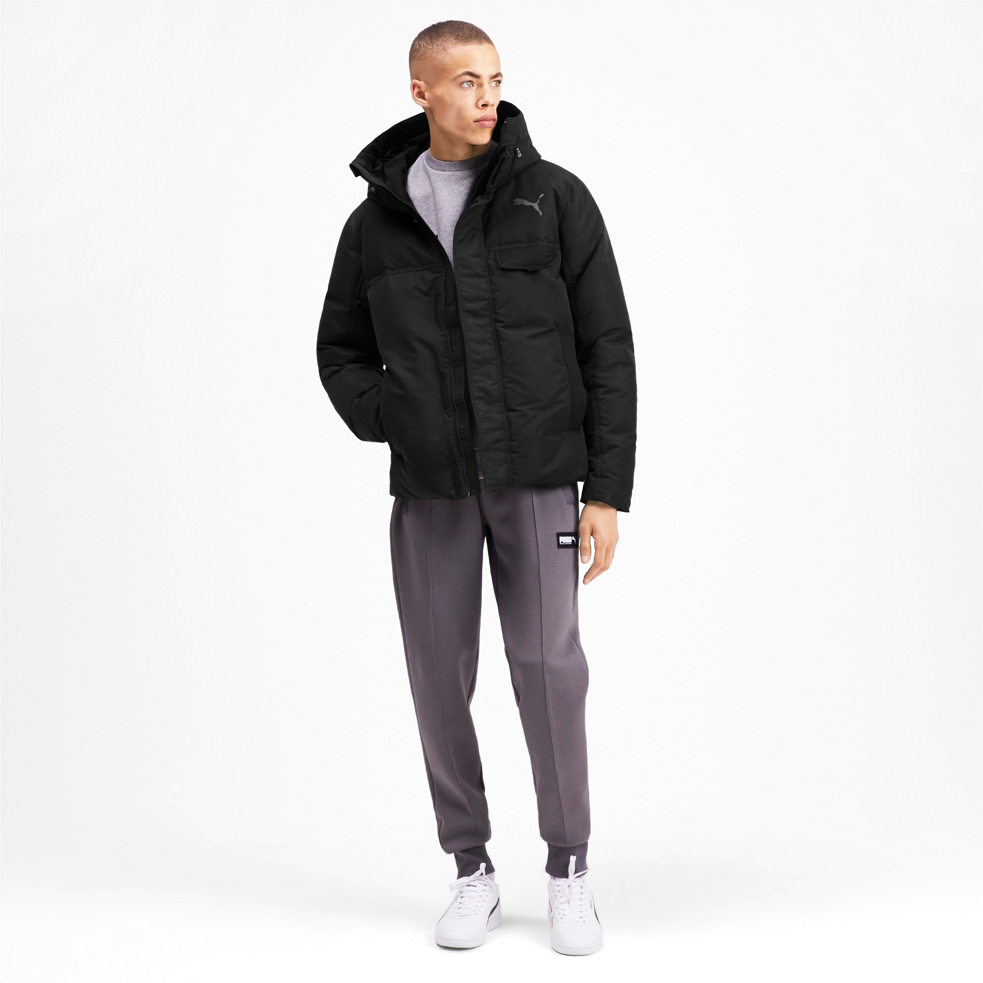 Thumbnail 3 of Streetstyle 480 HD Down Men's Jacket, Puma Black, medium