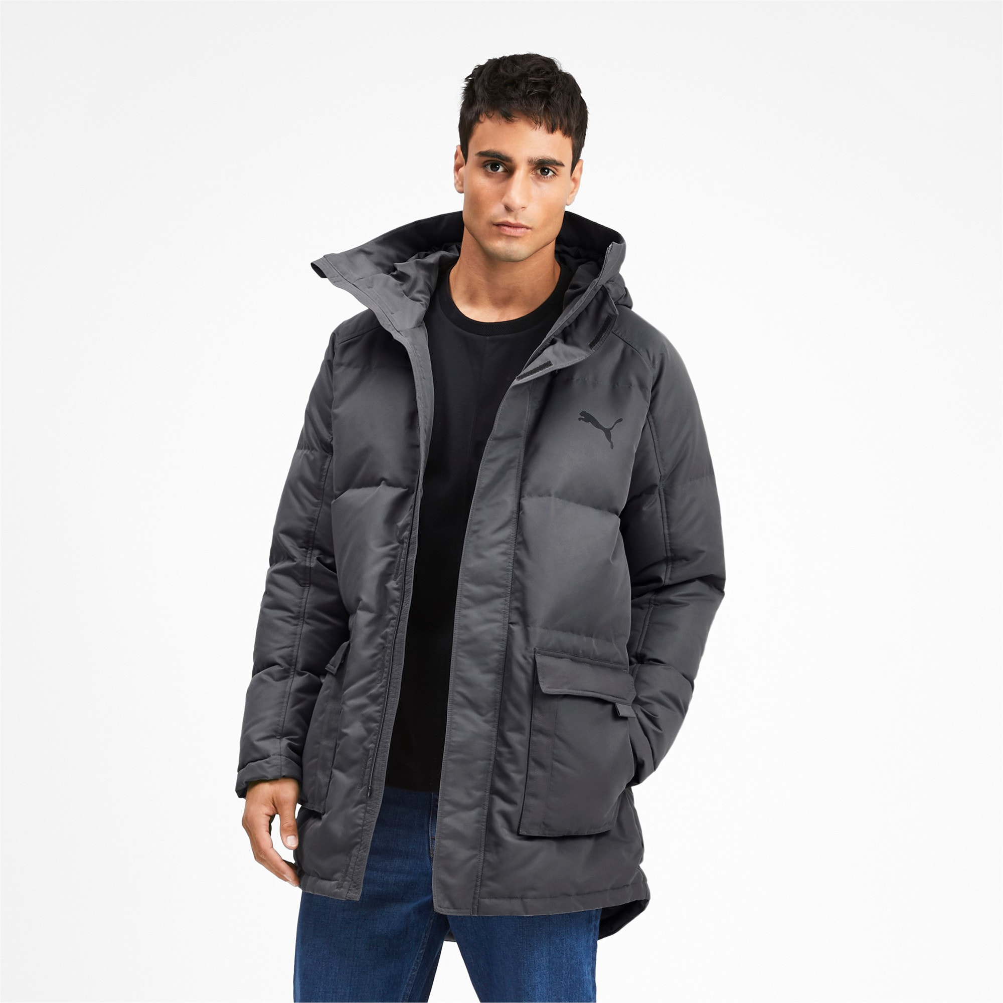 Thumbnail 1 of Oversize 500 Down Hooded Men's Jacket, CASTLEROCK, medium