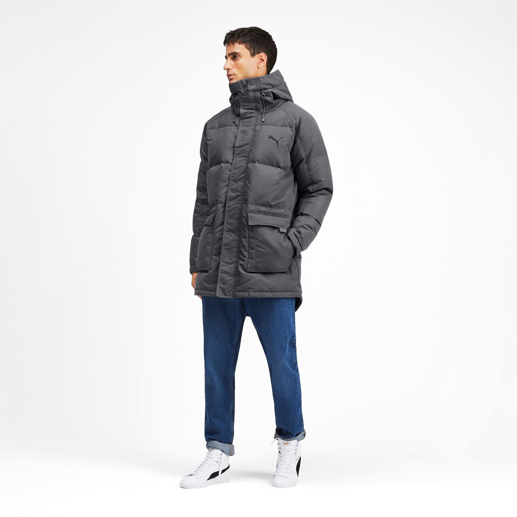 Thumbnail 3 of Oversize 500 Down Hooded Men's Jacket, CASTLEROCK, medium