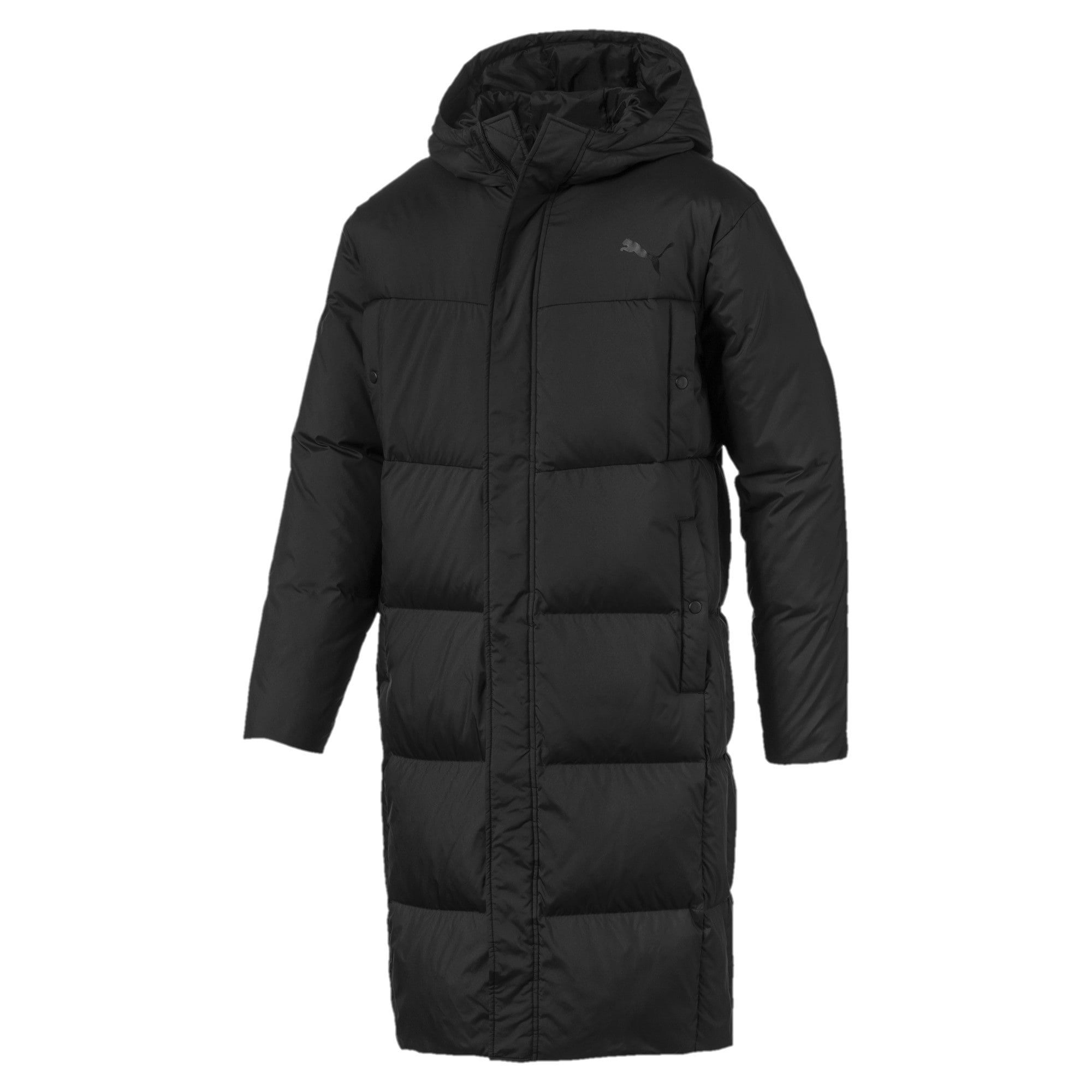Anteprima 4 di Long Oversized Men's Hooded Coat, Puma Black, medio