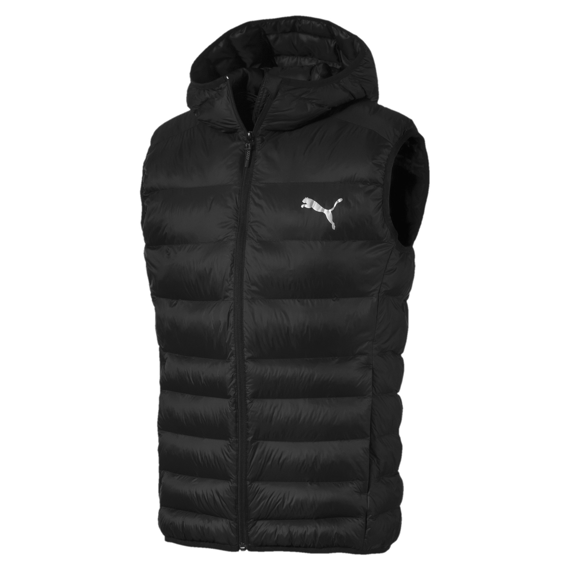 Thumbnail 4 of Ultralight Sleeveless Hooded Men's Vest, Puma Black, medium