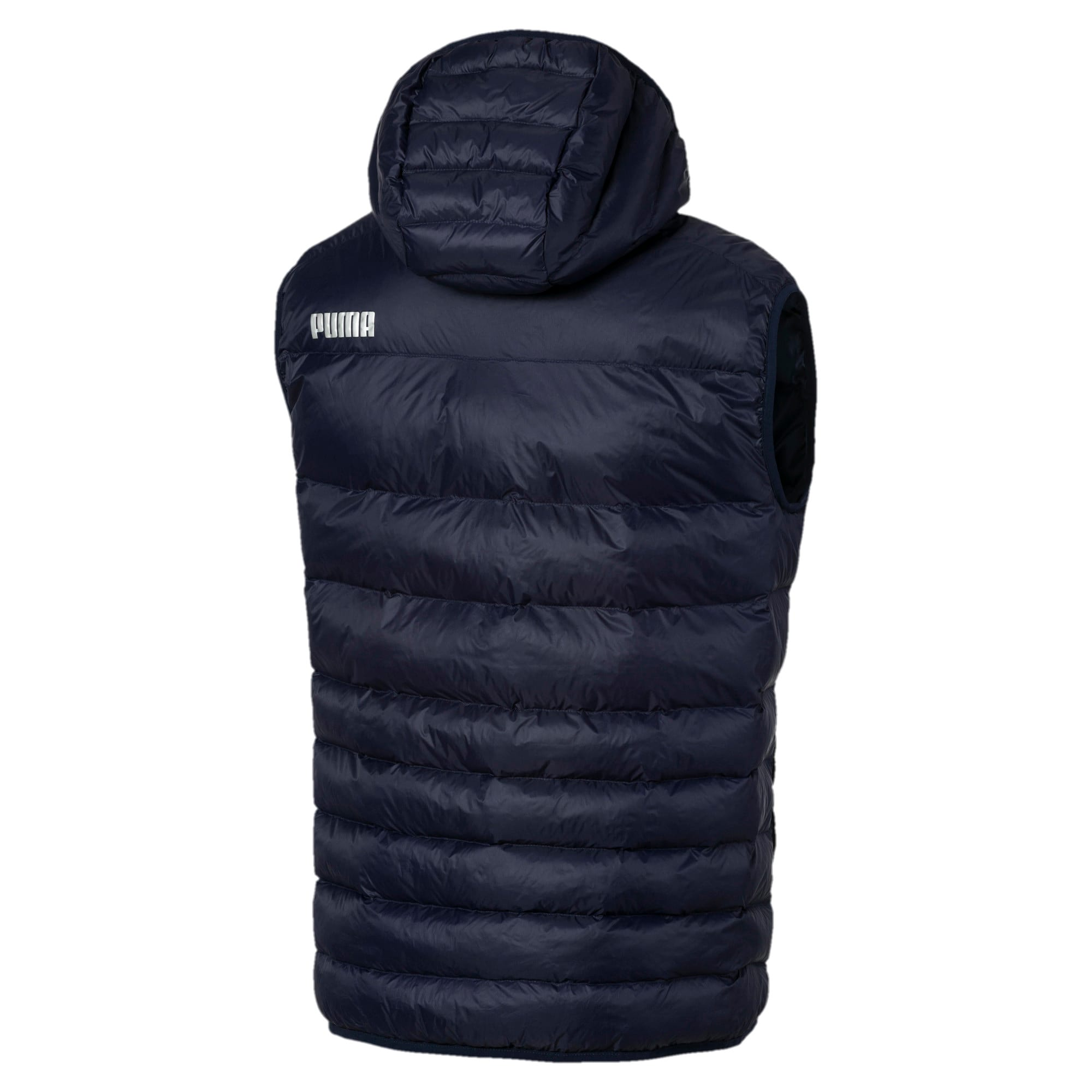 Thumbnail 5 of Ultralight Sleeveless Hooded Men's Vest, Peacoat, medium