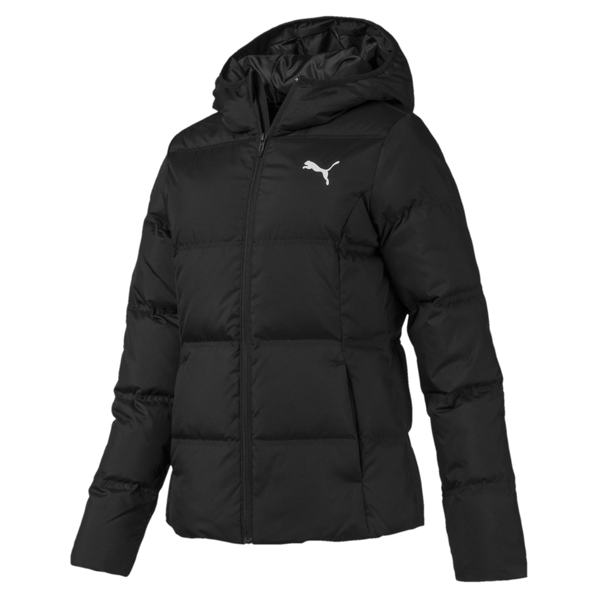Thumbnail 4 of Essentials 400 Damen Daunenjacke mit Kapuze, Puma Black, medium