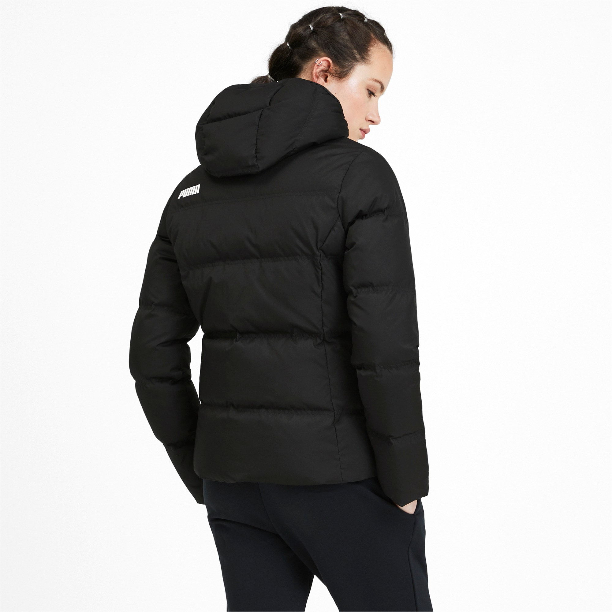 Thumbnail 2 of Essentials 400 Damen Daunenjacke mit Kapuze, Puma Black, medium