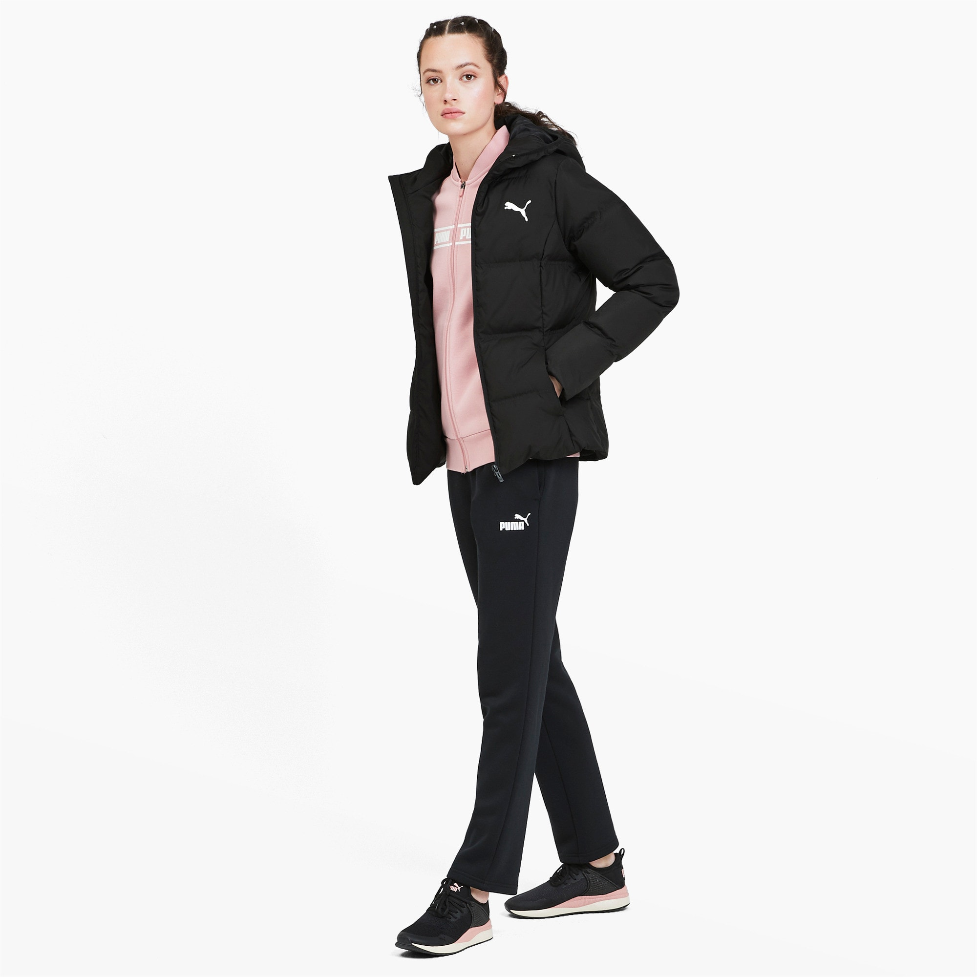 Thumbnail 3 of Essentials 400 Damen Daunenjacke mit Kapuze, Puma Black, medium