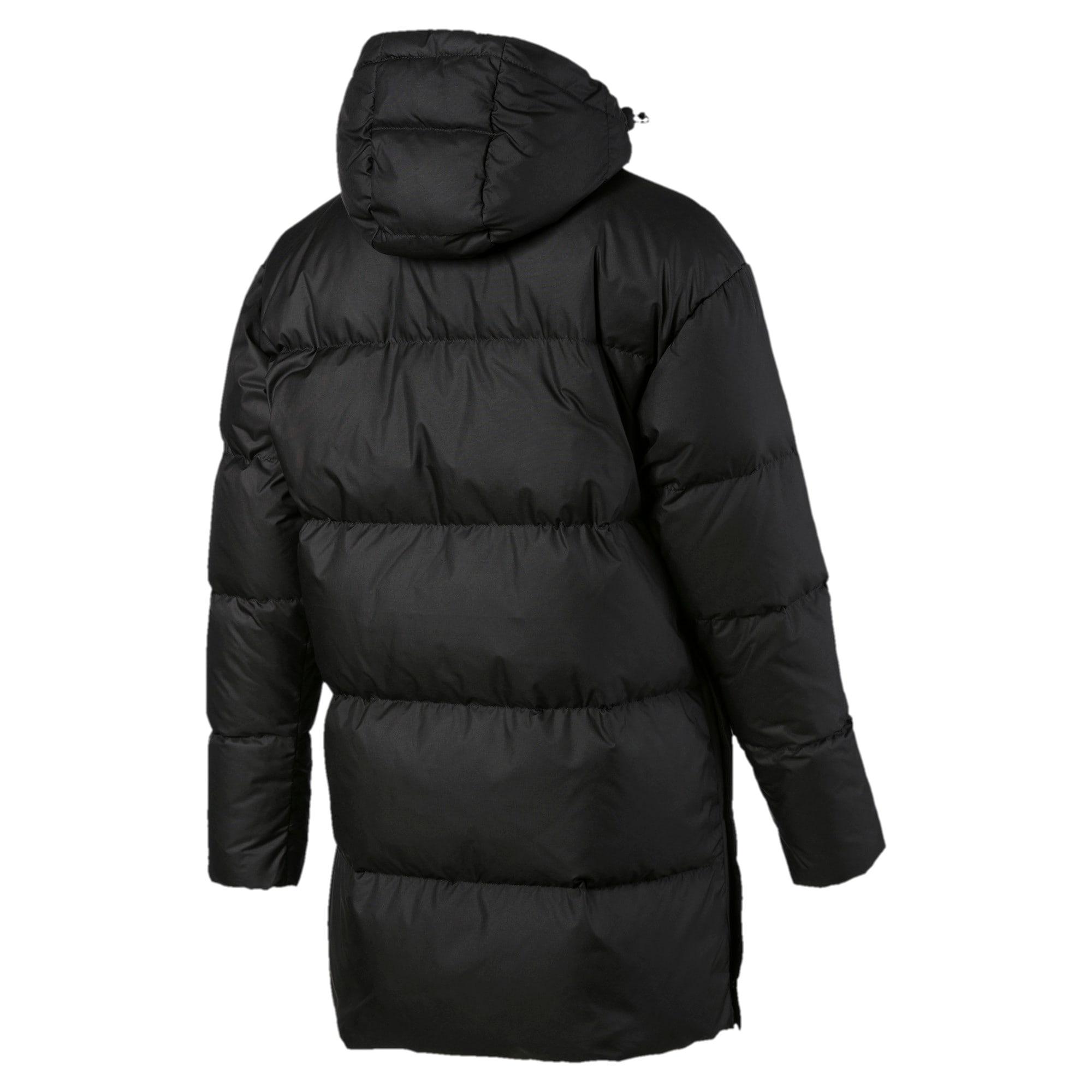 Thumbnail 5 of 450 Long Hooded Down Women's Coat, Puma Black, medium
