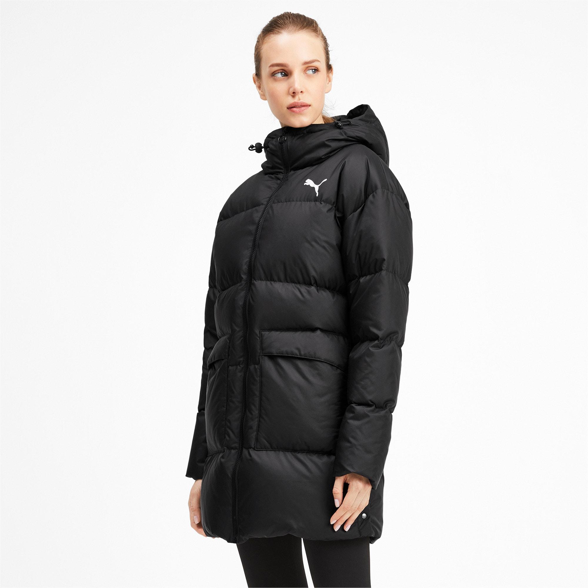 Thumbnail 1 of 450 Long Hooded Down Women's Coat, Puma Black, medium