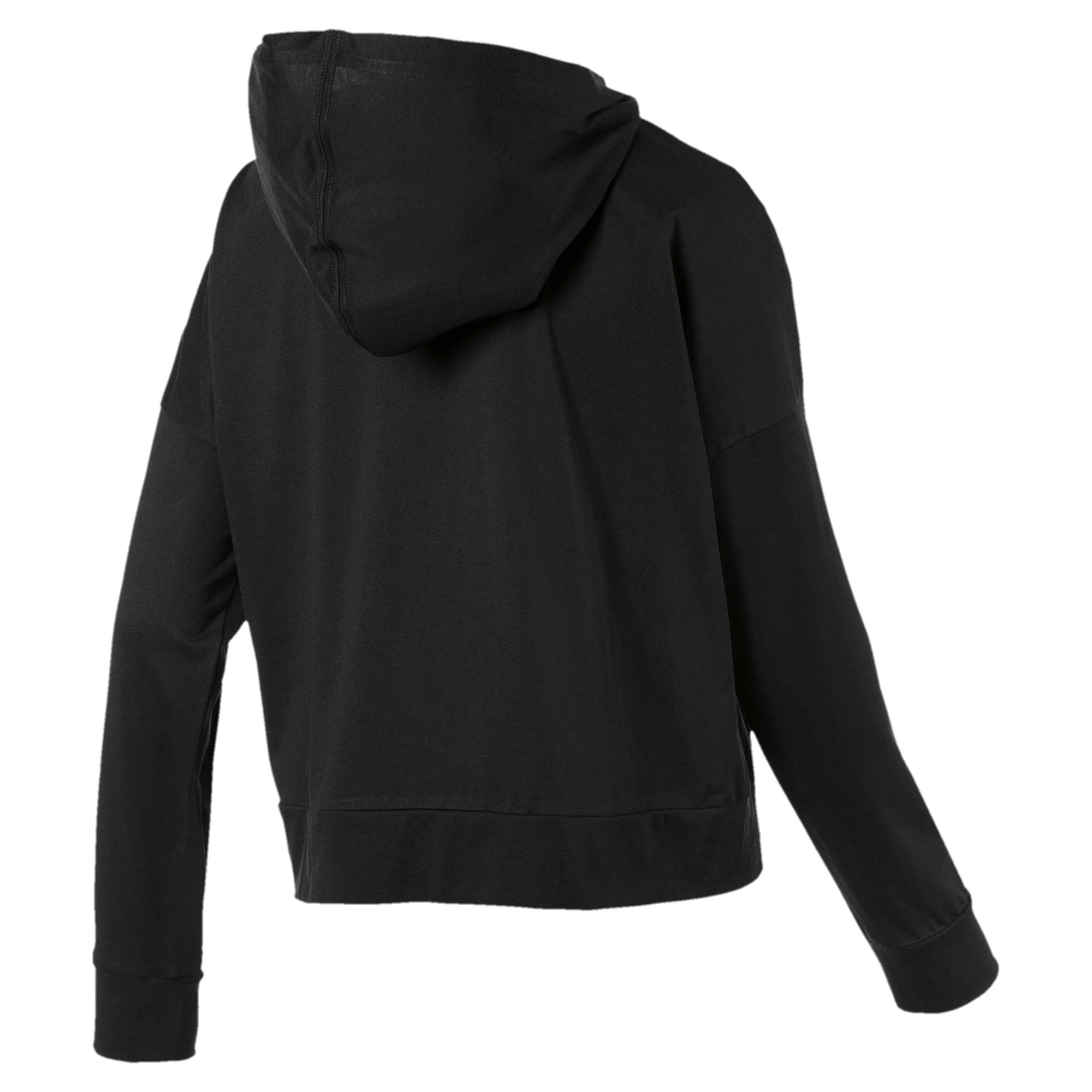 Thumbnail 5 of Modern Sport Long Sleeve Women's Hoodie, Puma Black, medium-IND
