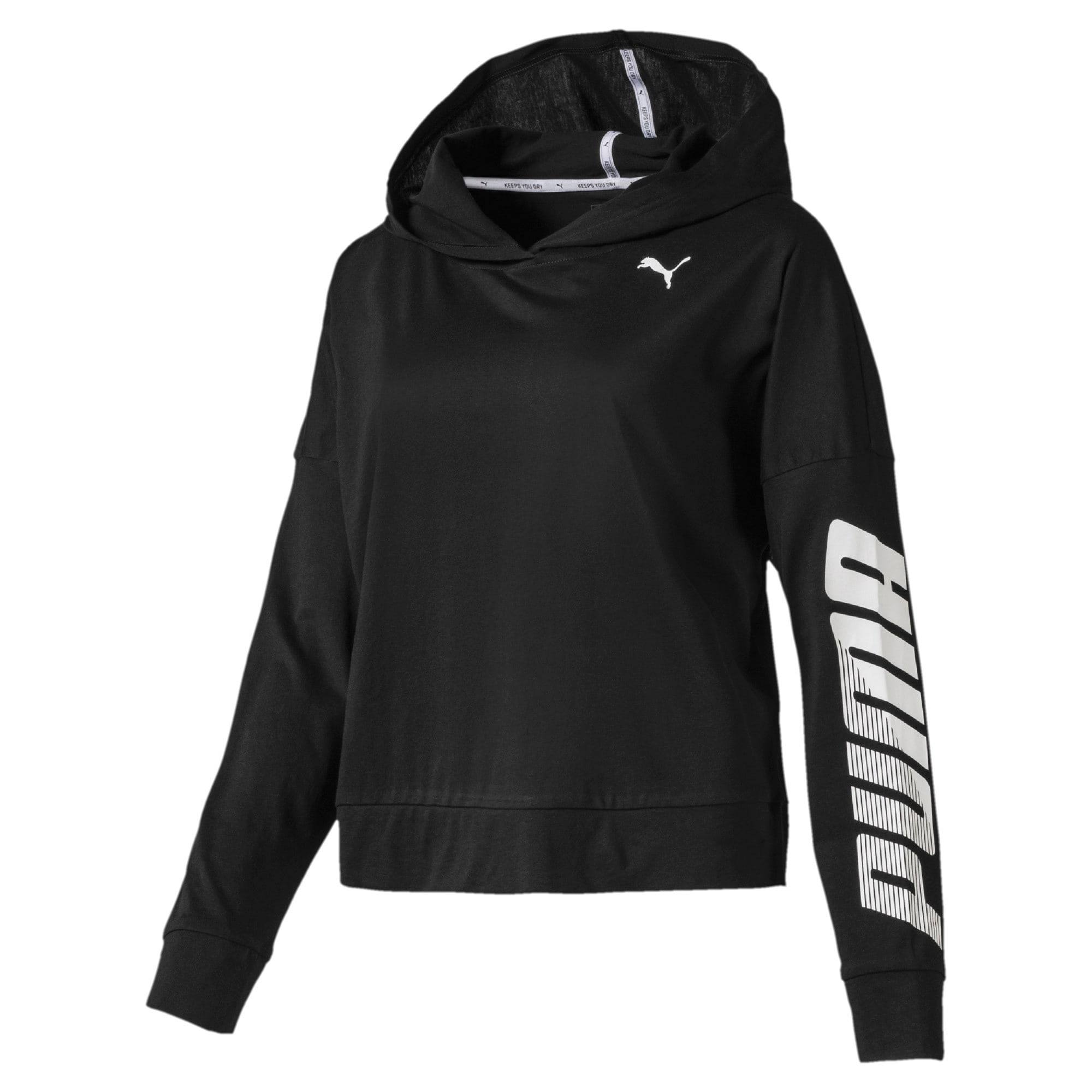 Thumbnail 1 of Modern Sport Long Sleeve Women's Hoodie, Puma Black, medium-IND