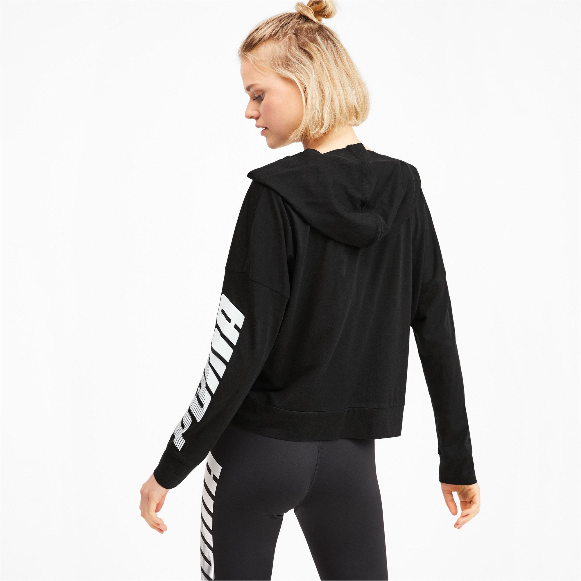 Thumbnail 3 of Modern Sport Long Sleeve Women's Hoodie, Puma Black, medium-IND