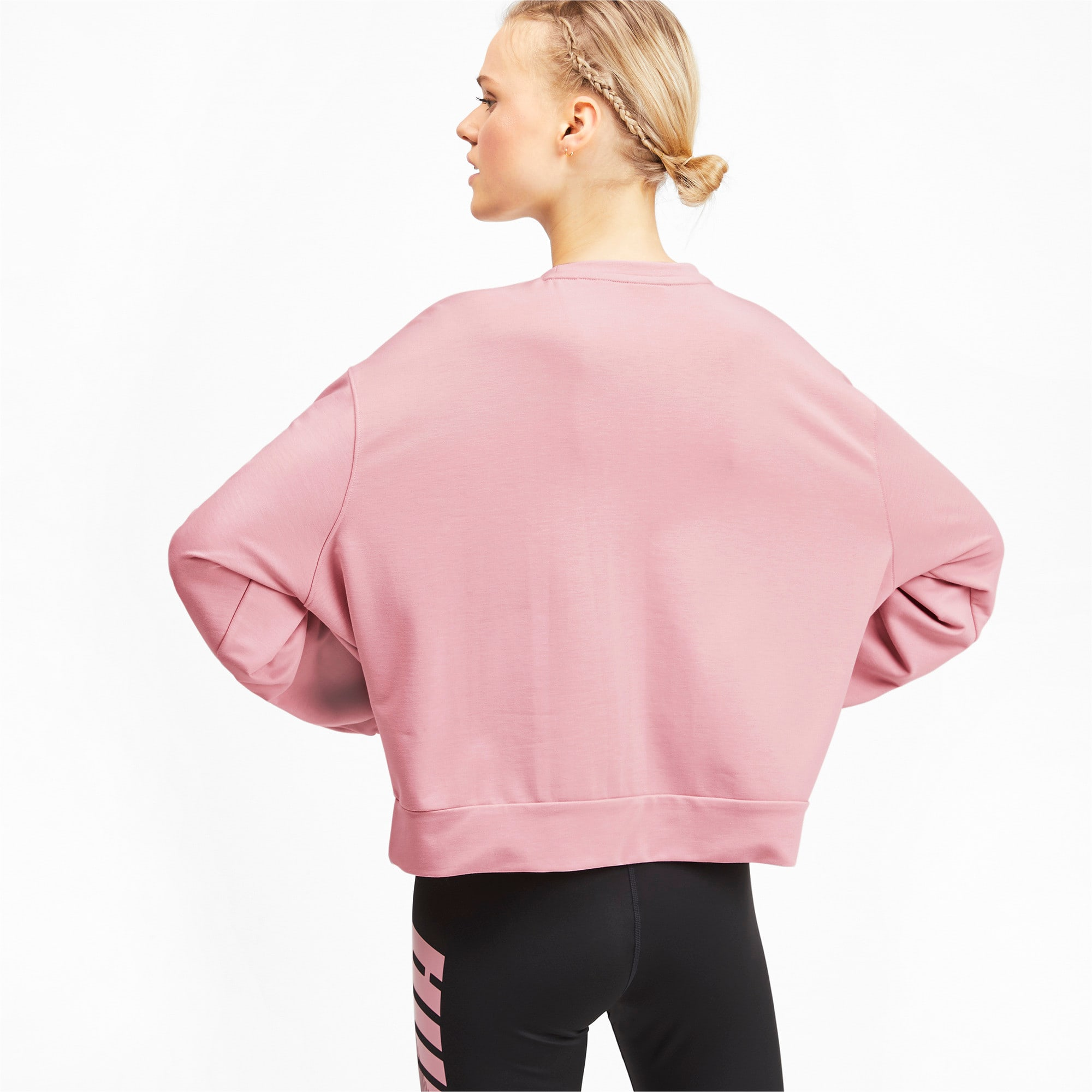 Thumbnail 2 of Modern Sport Crew Women's Long Sleeve Sweater, Bridal Rose, medium