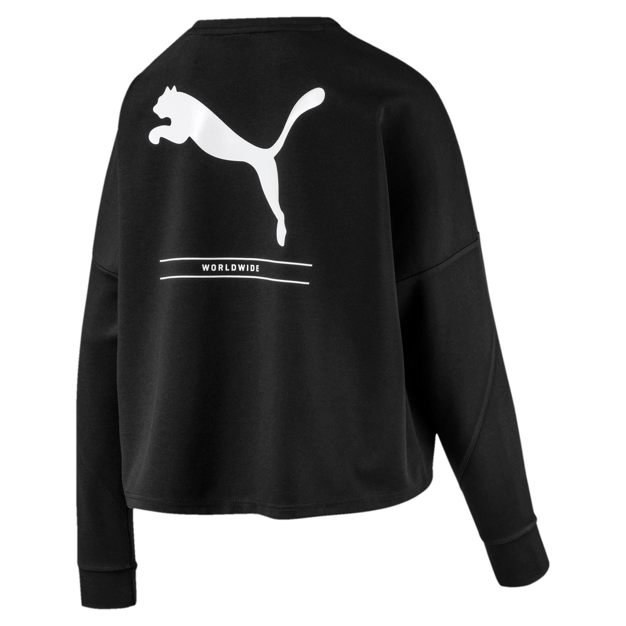 Thumbnail 5 of NU-TILITY Cropped Crew Women's Sweater, Puma Black, medium