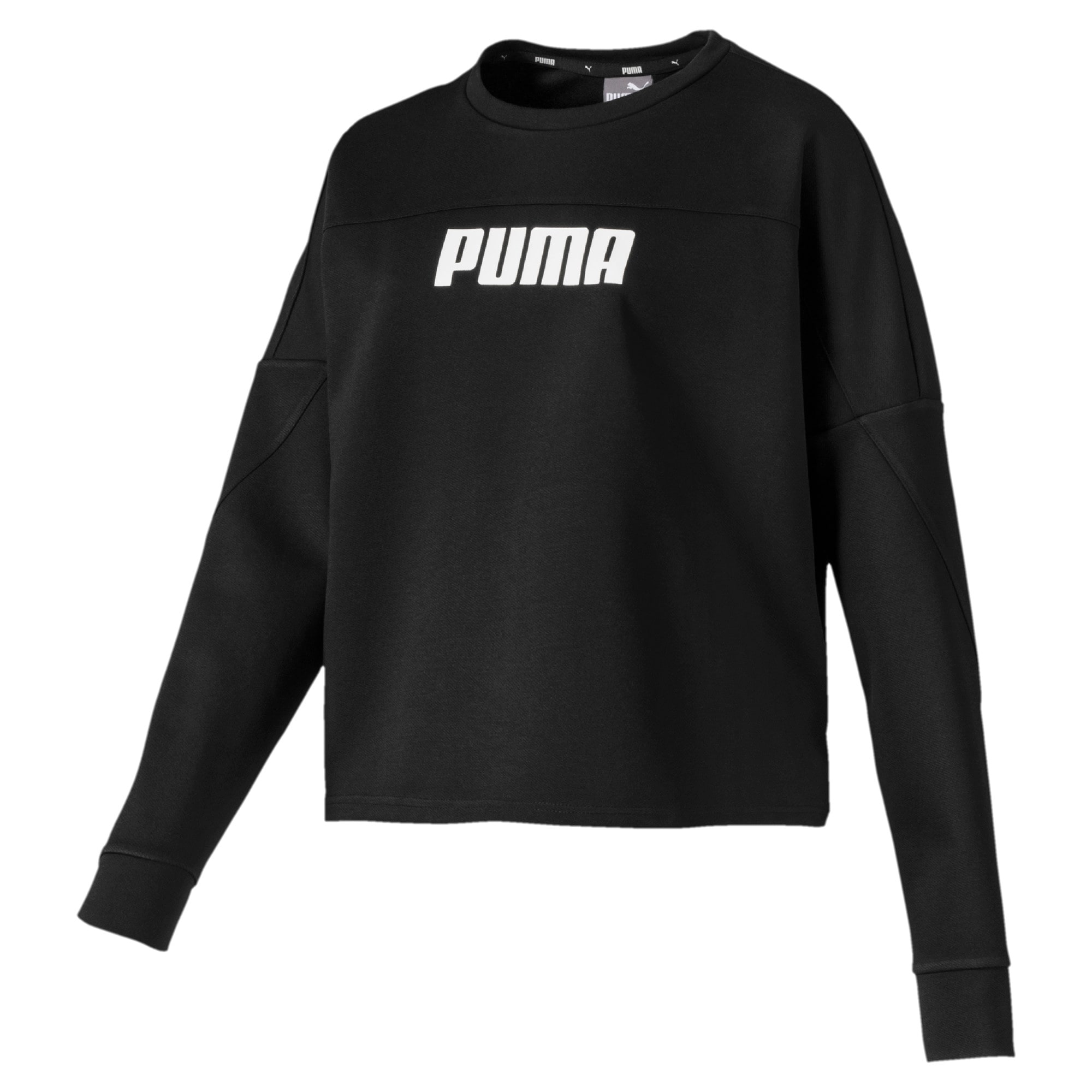 Thumbnail 4 of NU-TILITY Cropped Crew Women's Sweater, Puma Black, medium