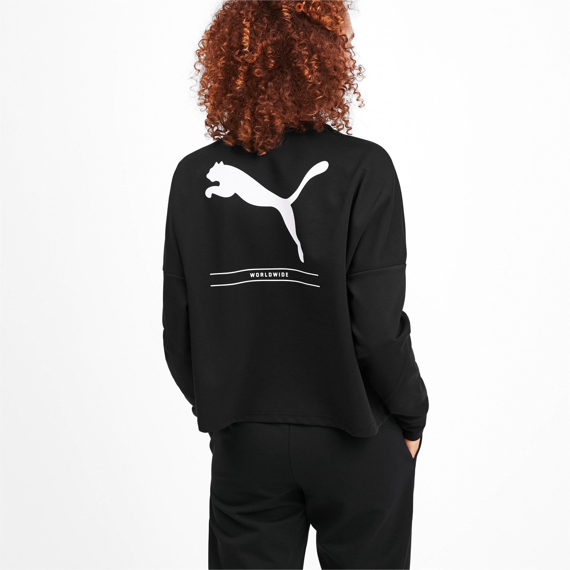 Thumbnail 2 of NU-TILITY Cropped Crew Women's Sweater, Puma Black, medium