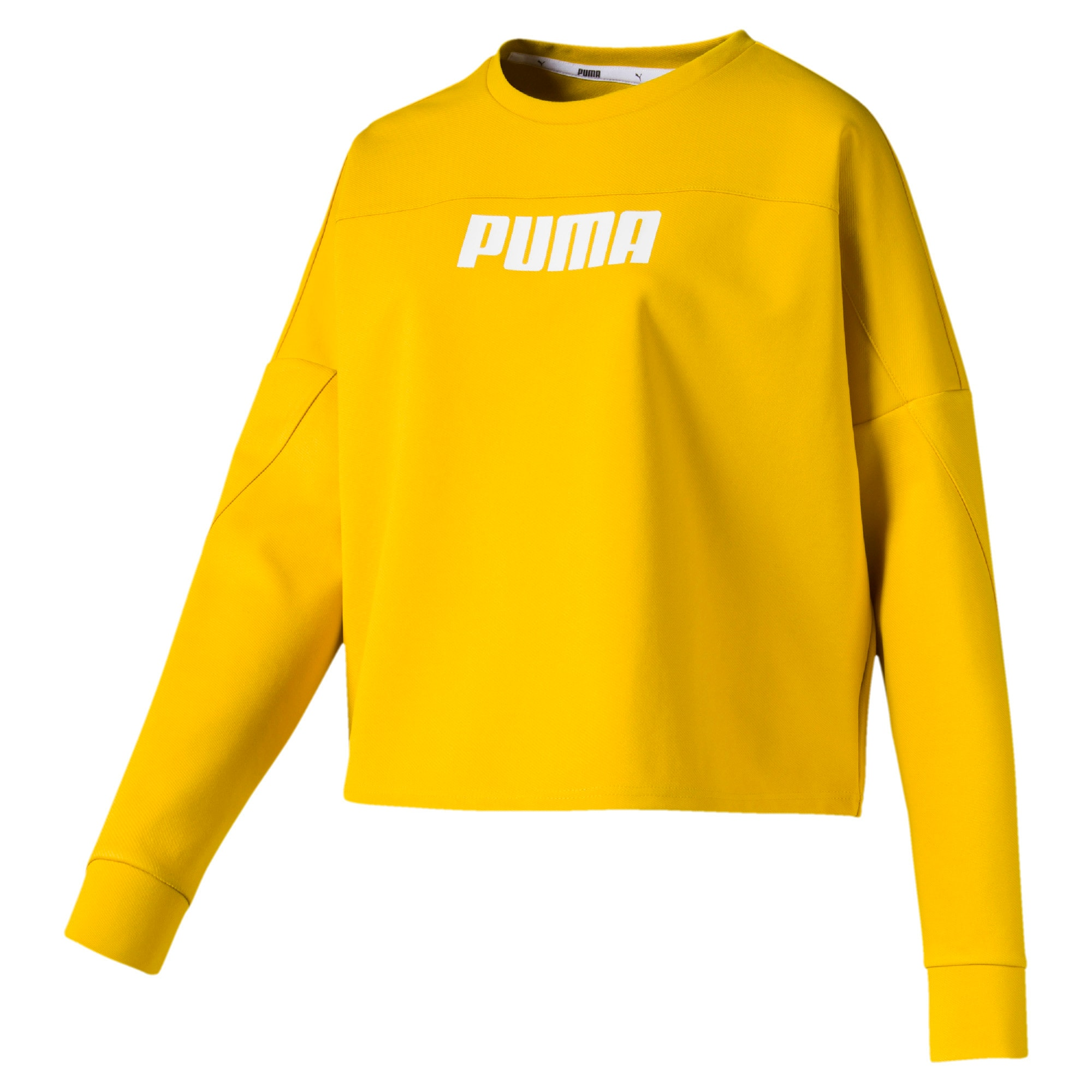 Thumbnail 4 of NU-TILITY Cropped Crew Women's Sweater, Sulphur, medium