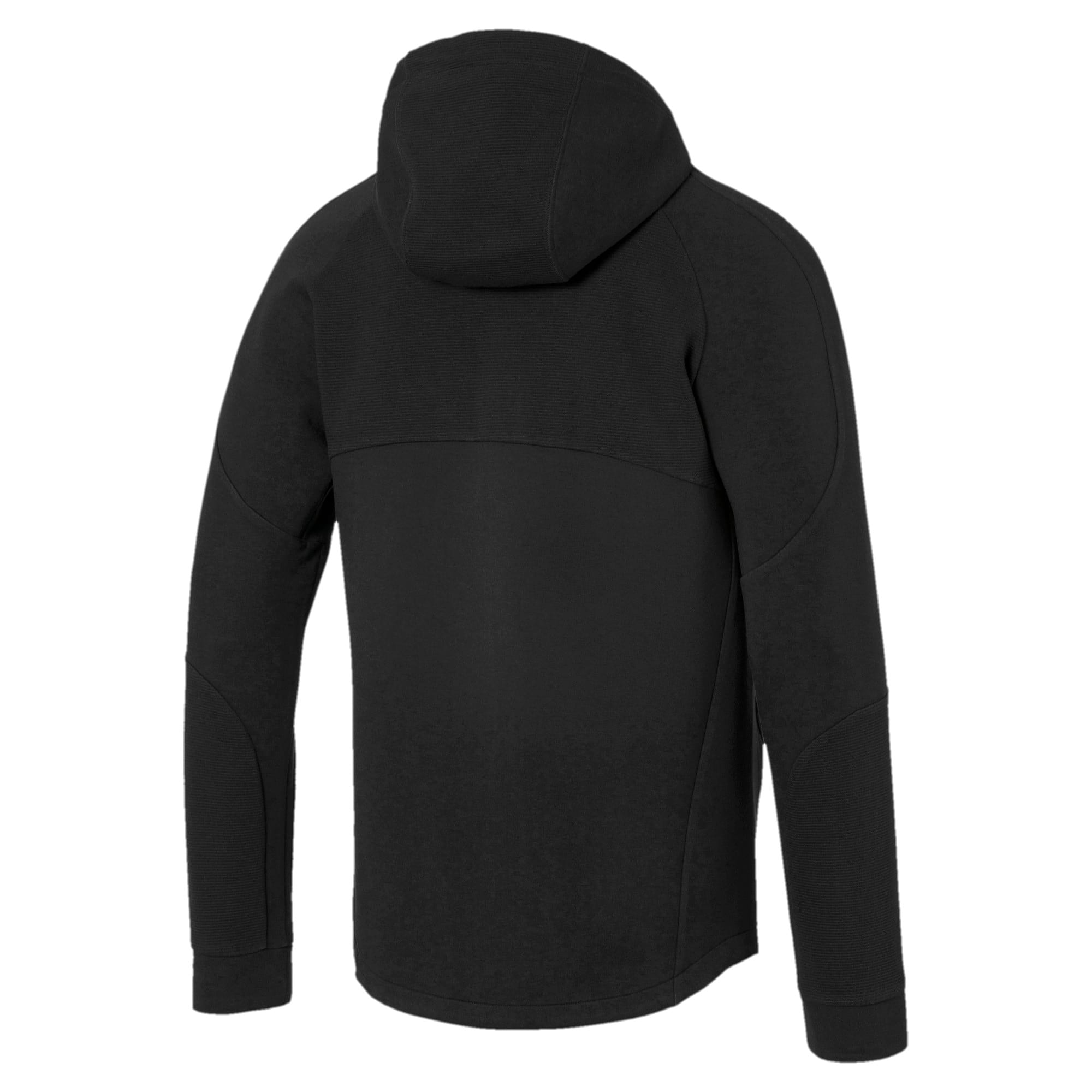 Thumbnail 5 of Evostripe Full Zip Men's Hoodie, Puma Black, medium
