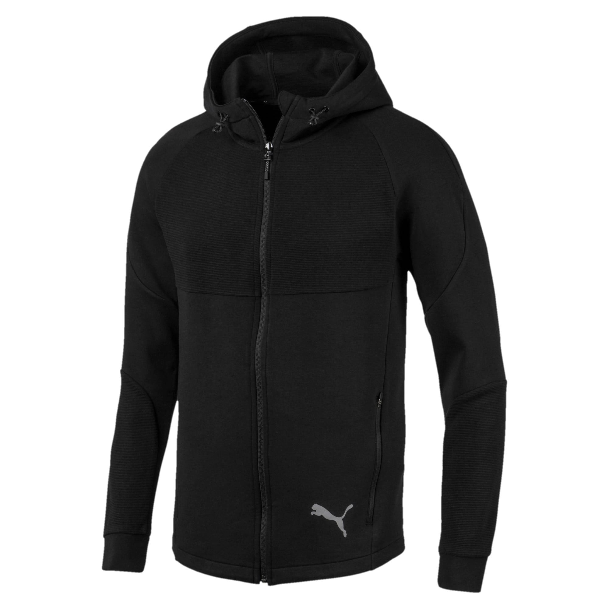 Thumbnail 4 of Evostripe Full Zip Men's Hoodie, Puma Black, medium