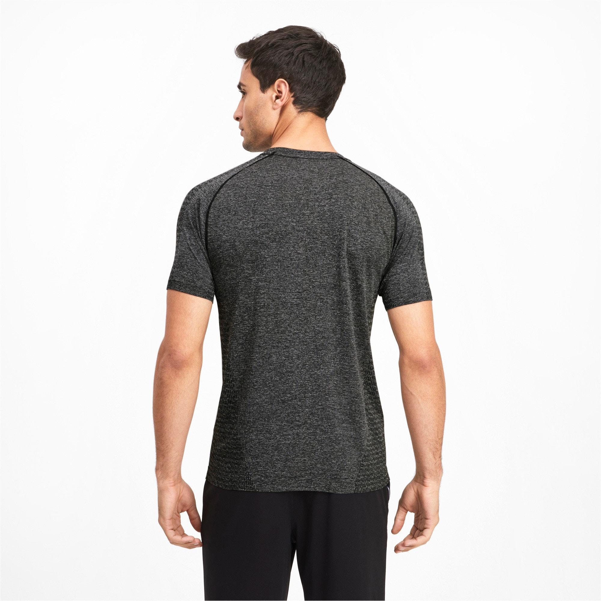 Thumbnail 2 of Tec Sports evoKNIT Men's Basic Tee, Puma Black, medium-IND