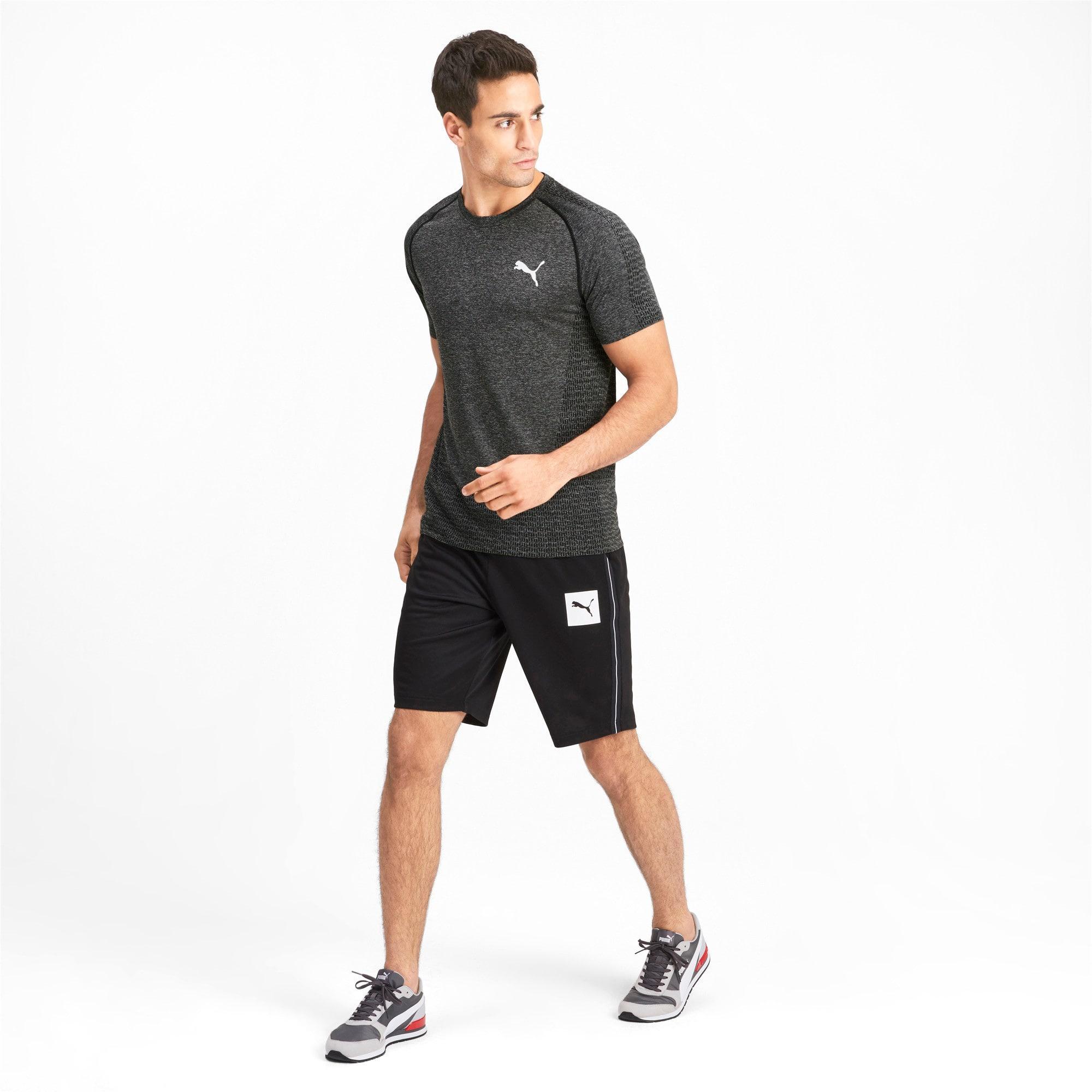 Thumbnail 3 of Tec Sports evoKNIT Men's Basic Tee, Puma Black, medium-IND