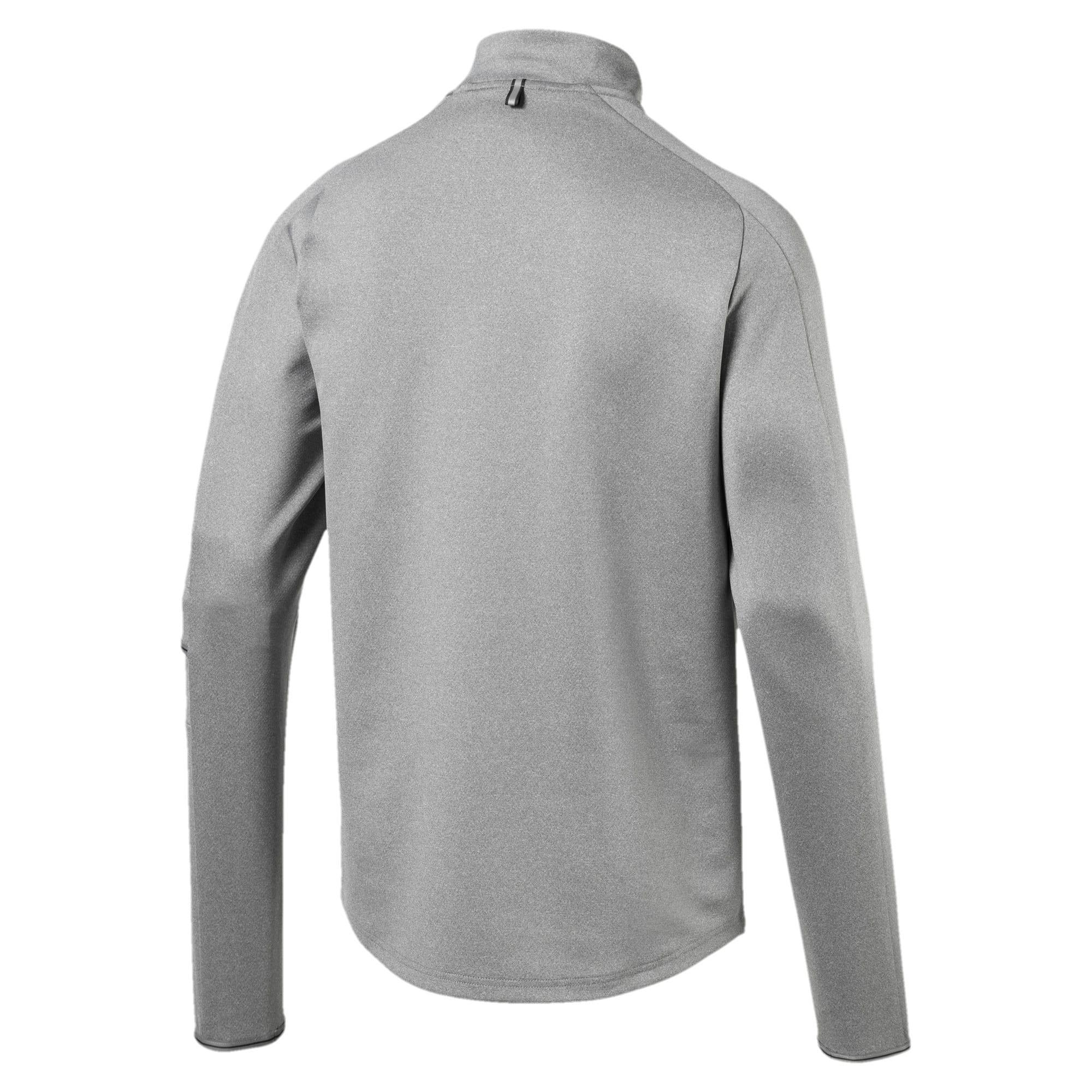 Thumbnail 5 of Tec Half Zip Men's Pullover, Medium Gray Heather, medium-IND