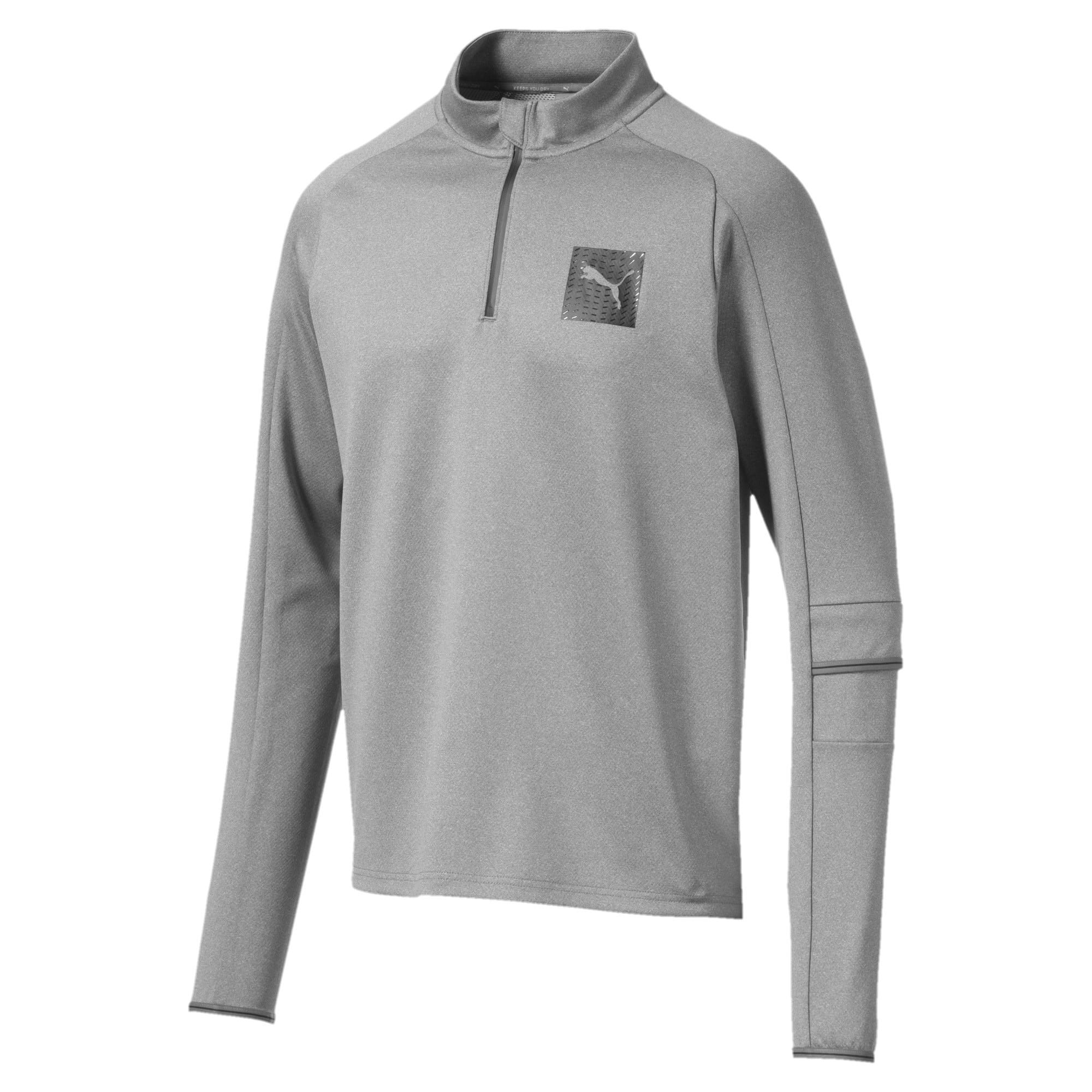 Thumbnail 4 of Tec Half Zip Men's Pullover, Medium Gray Heather, medium-IND