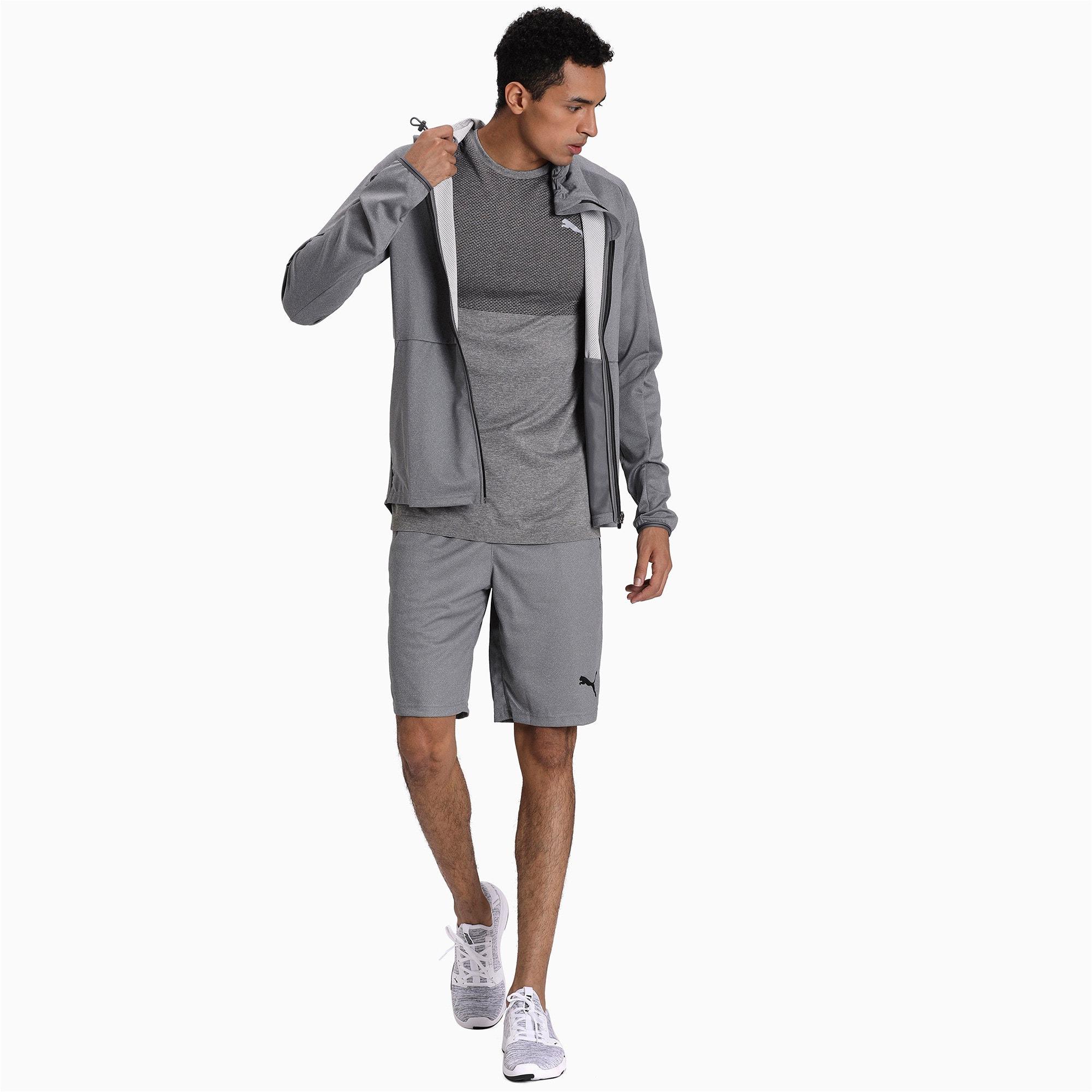 Thumbnail 3 of Tec Sports Full Zip Men's Hoodie, Medium Gray Heather, medium-IND