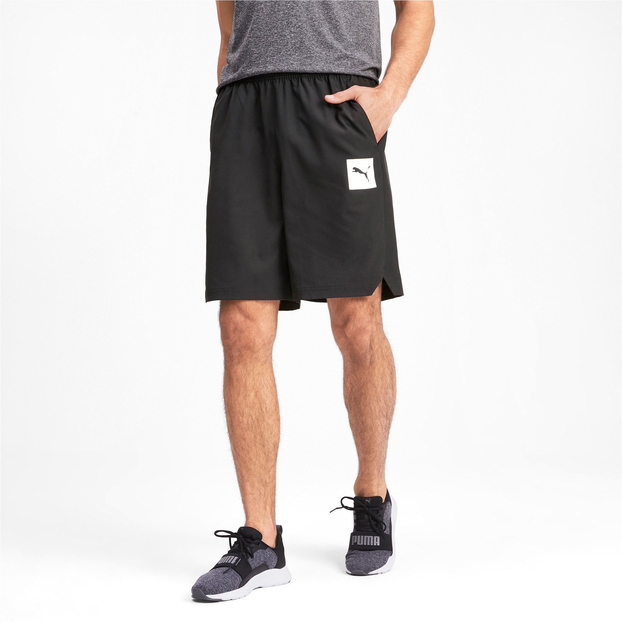 Thumbnail 1 of Tec Sports Men's Woven Shorts, Puma Black, medium-IND