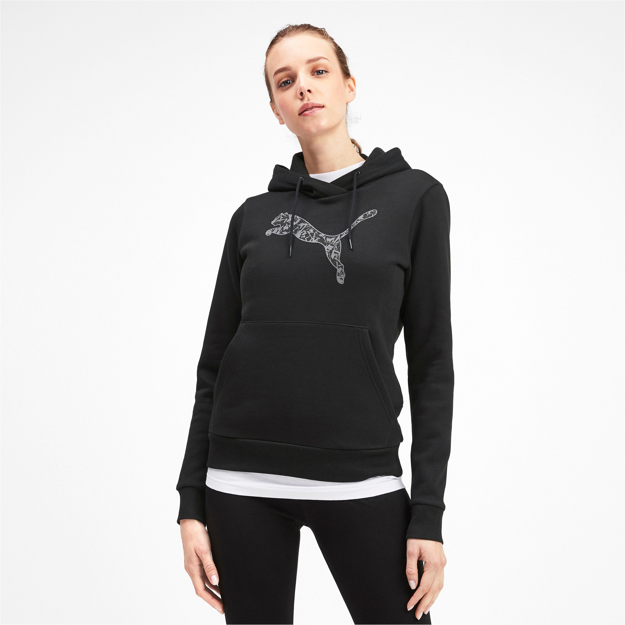 Thumbnail 1 of Kangaroo Hoodie, Puma Black, medium-IND