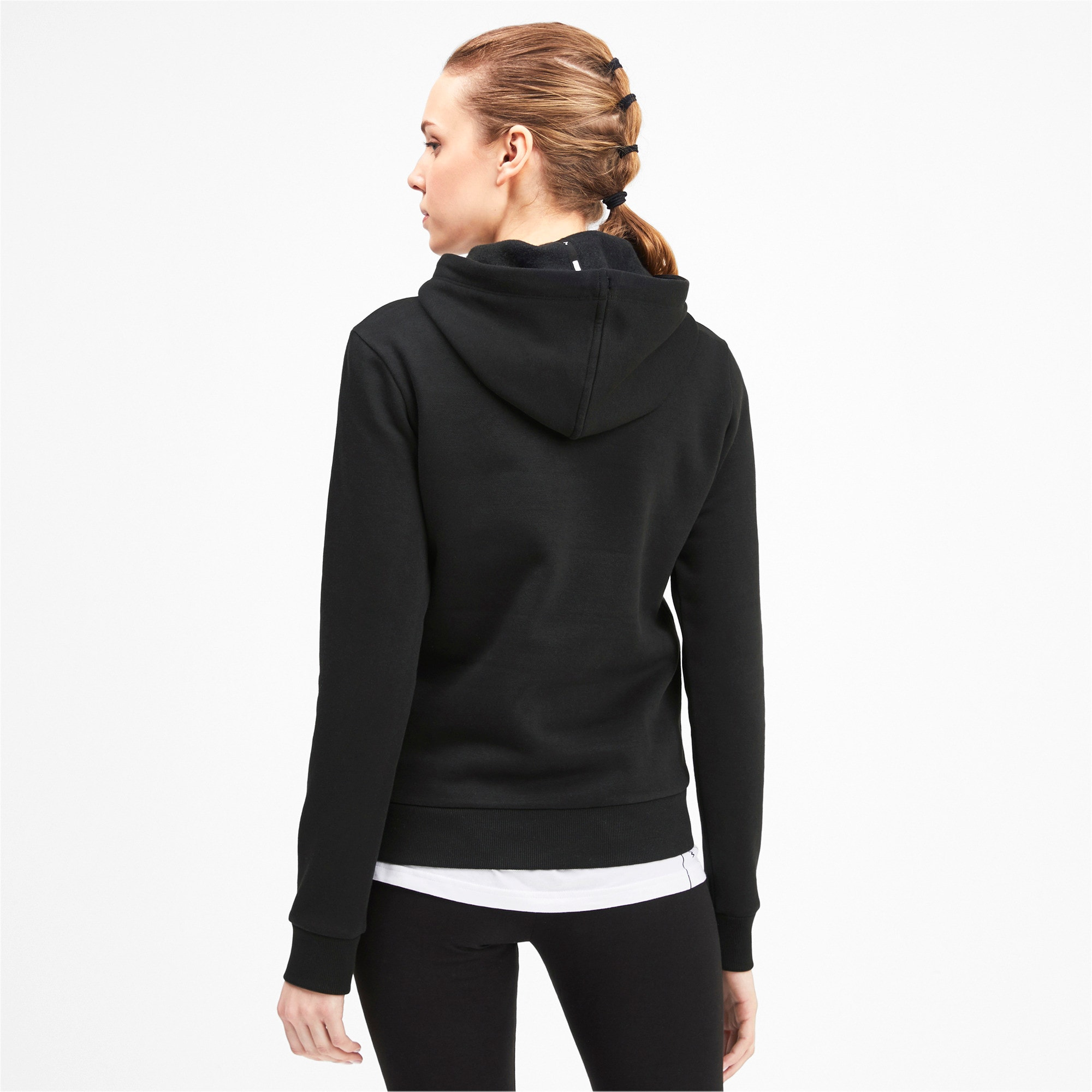 Thumbnail 2 of Kangaroo Hoodie, Puma Black, medium-IND