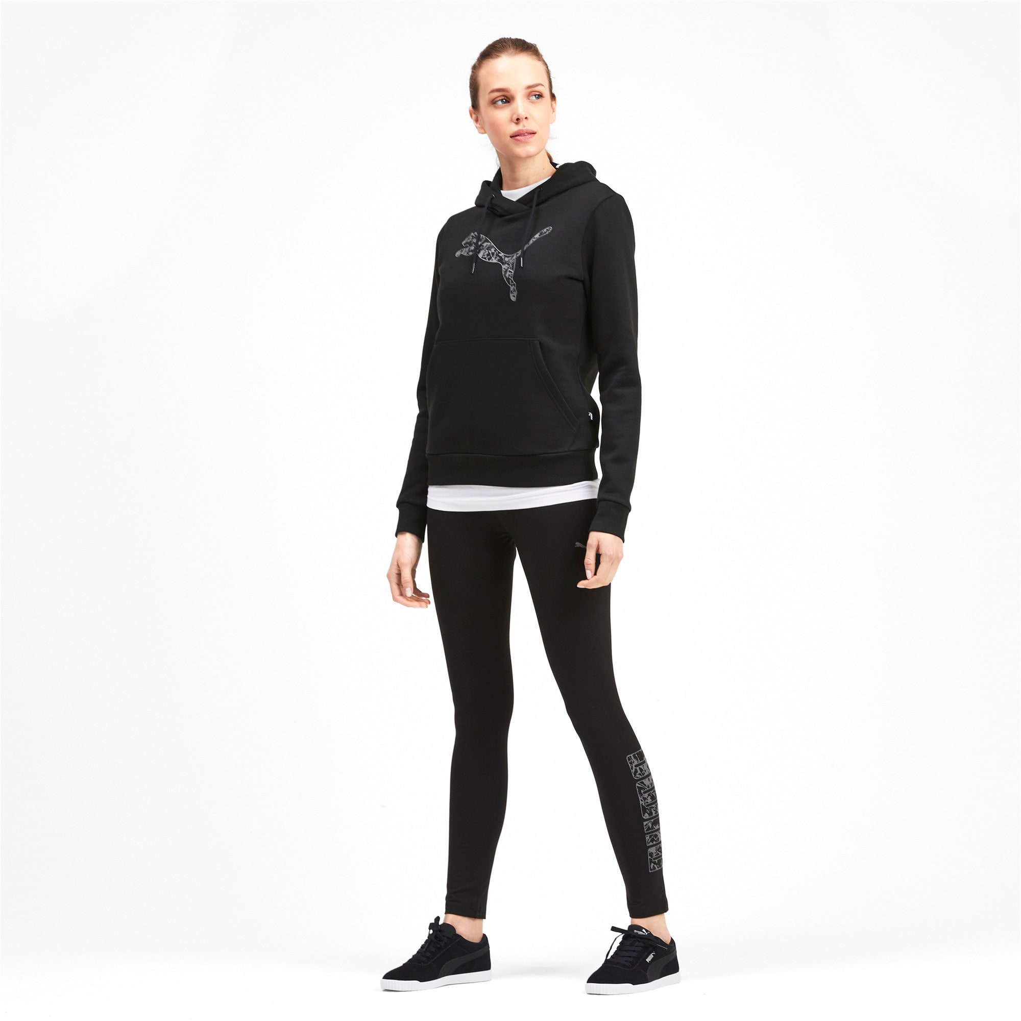 Thumbnail 3 of Kangaroo Hoodie, Puma Black, medium-IND