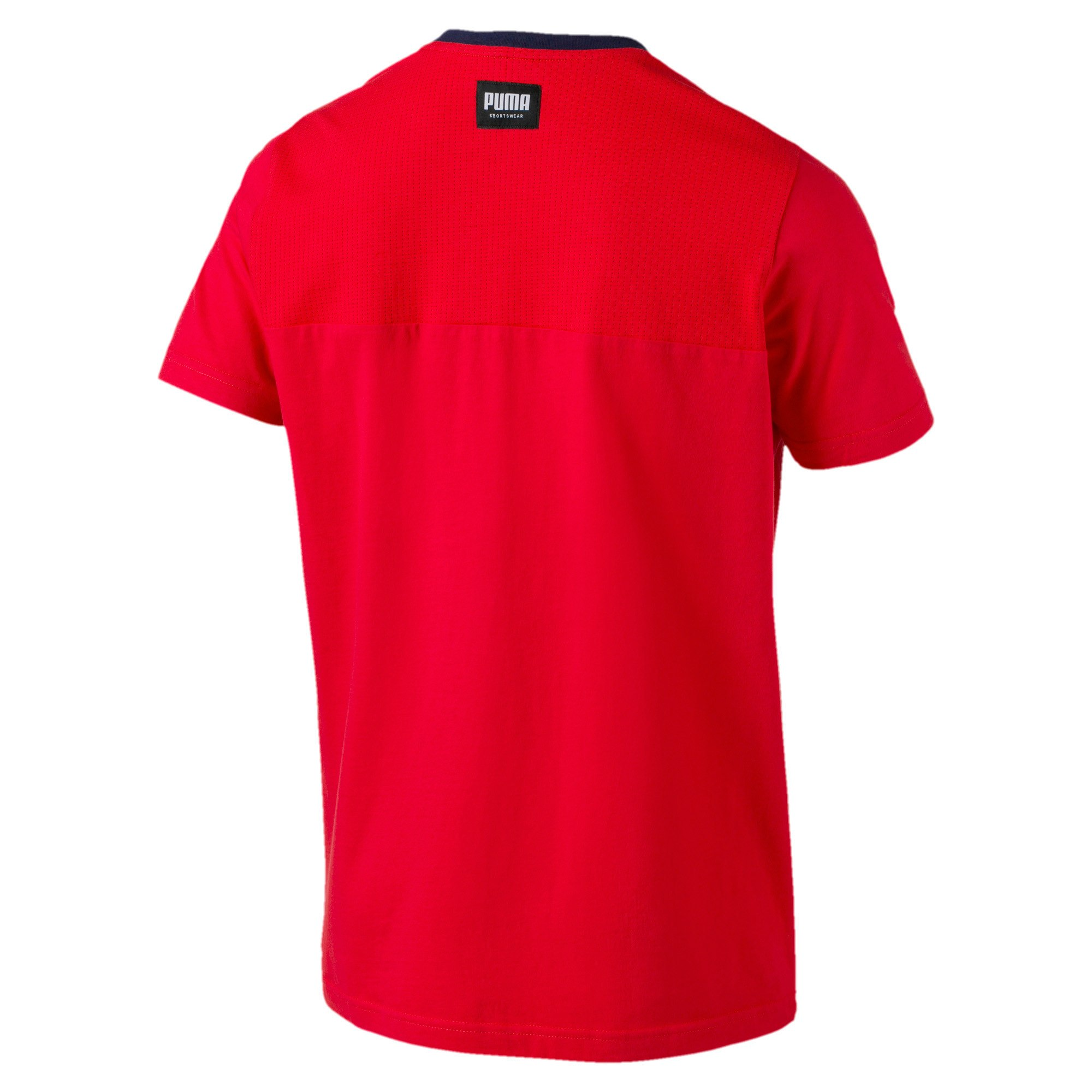 Thumbnail 5 of Athletics Men's Elevated Tee, High Risk Red, medium-IND