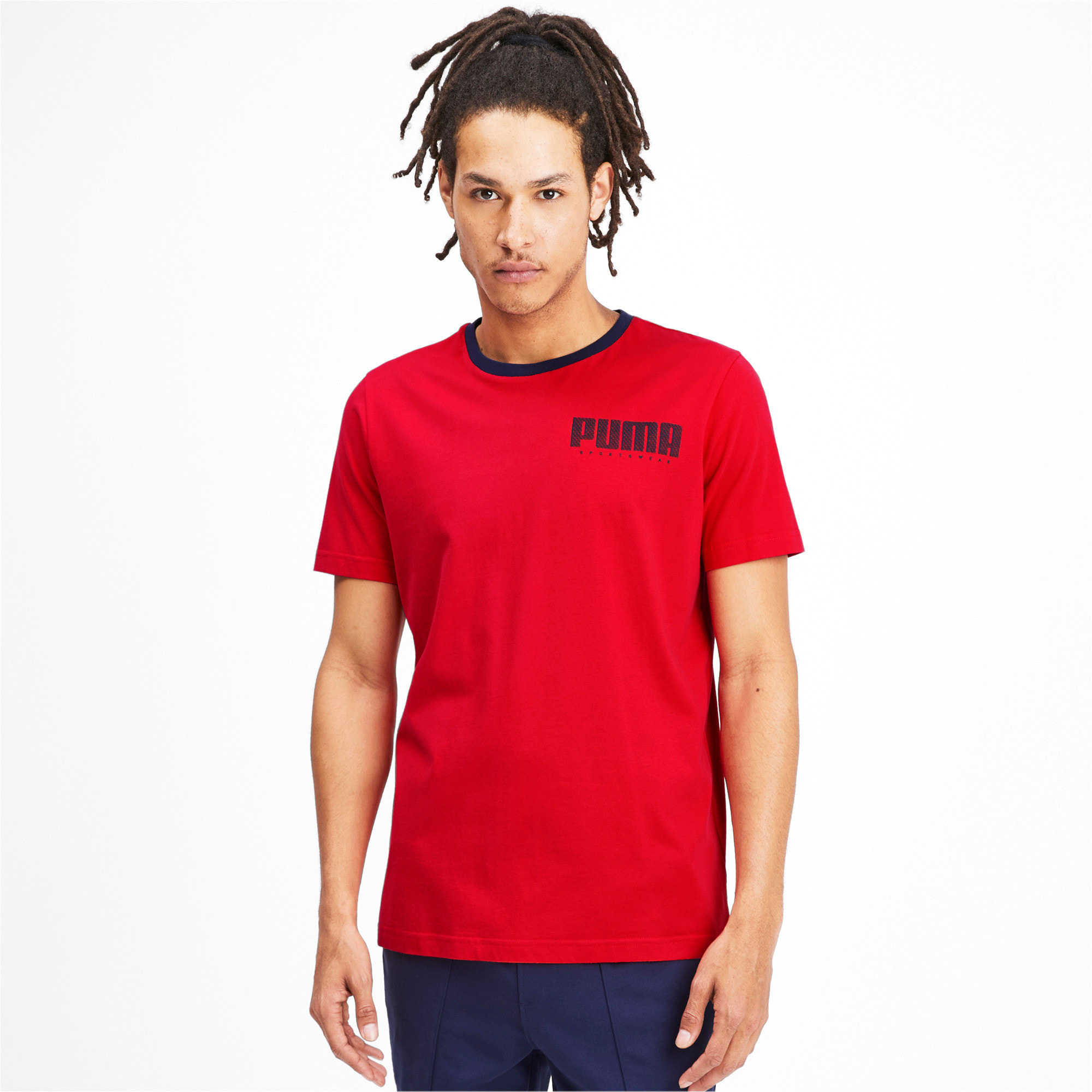Thumbnail 2 of Athletics Men's Elevated Tee, High Risk Red, medium-IND