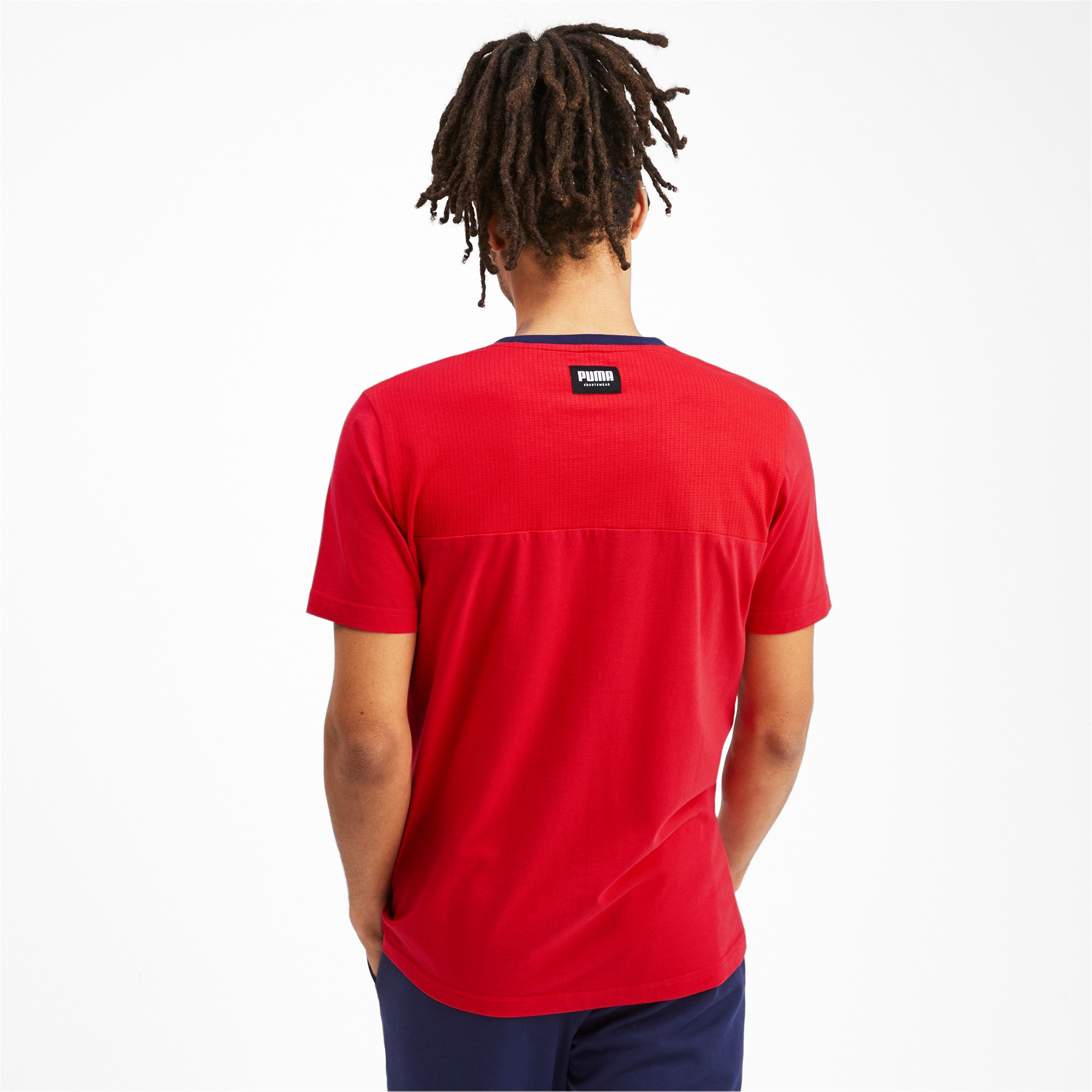 Thumbnail 3 of Athletics Men's Elevated Tee, High Risk Red, medium-IND