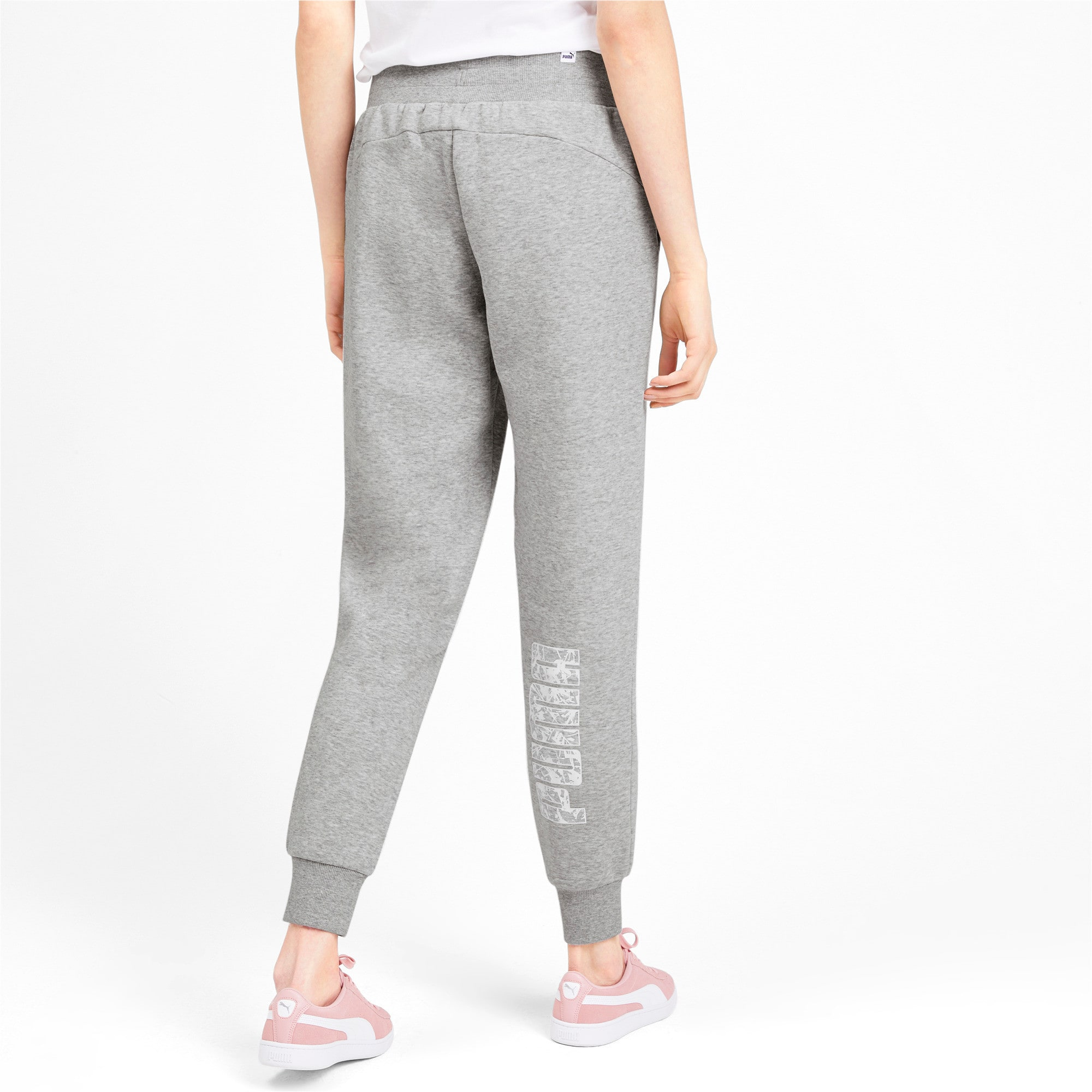 Thumbnail 3 of Knitted Women's Pants, Light Gray Heather, medium-IND