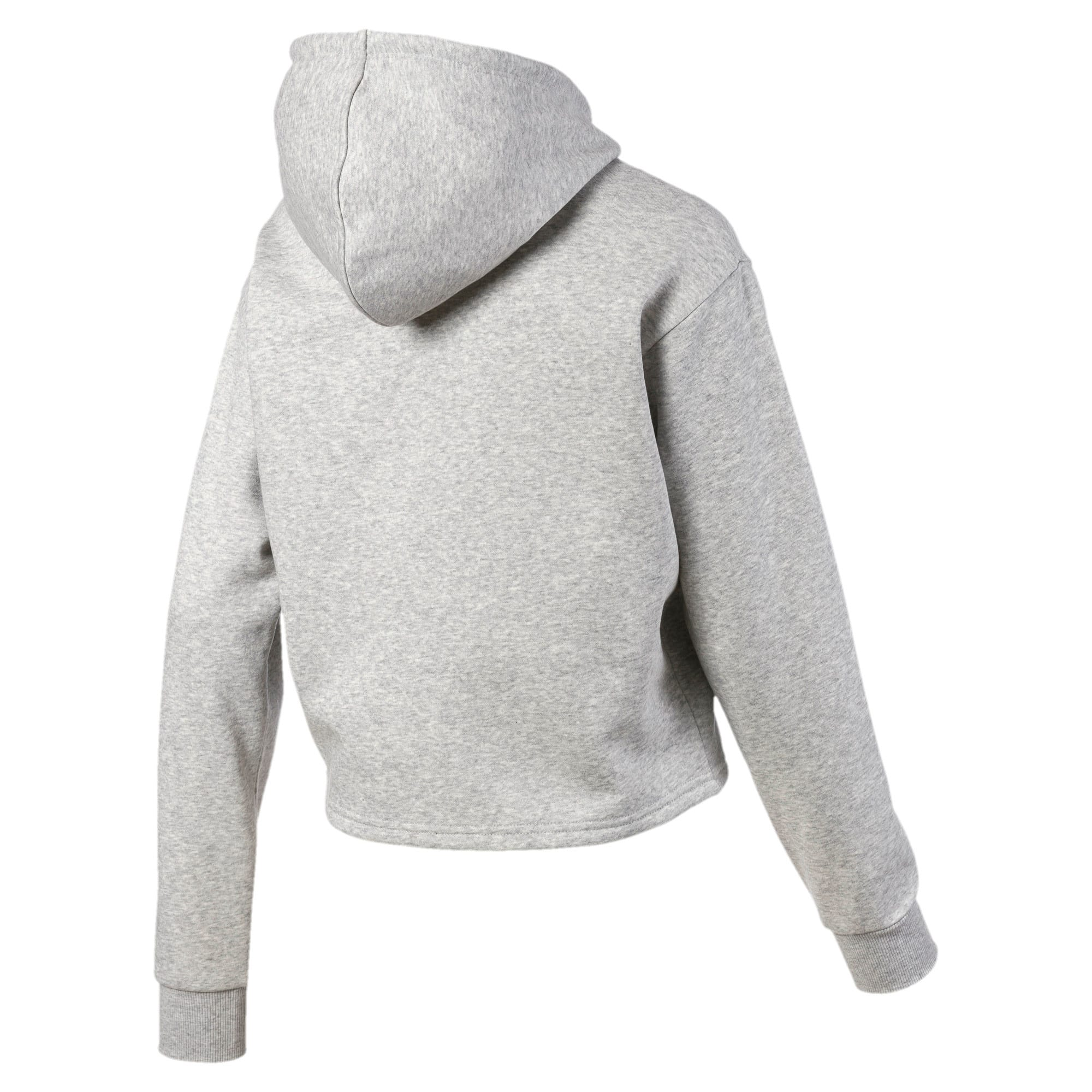 Thumbnail 5 of Elevated Essentials Cropped Women's Hoodie, Light Gray Heather, medium