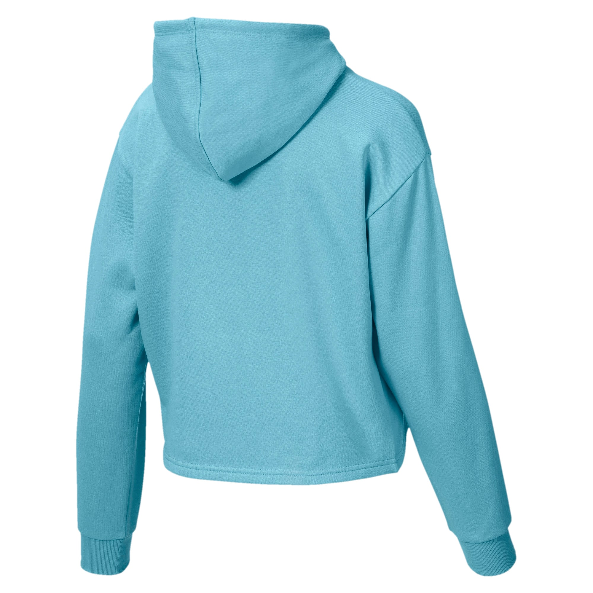 Thumbnail 5 of Elevated Essentials Cropped Women's Hoodie, Milky Blue, medium