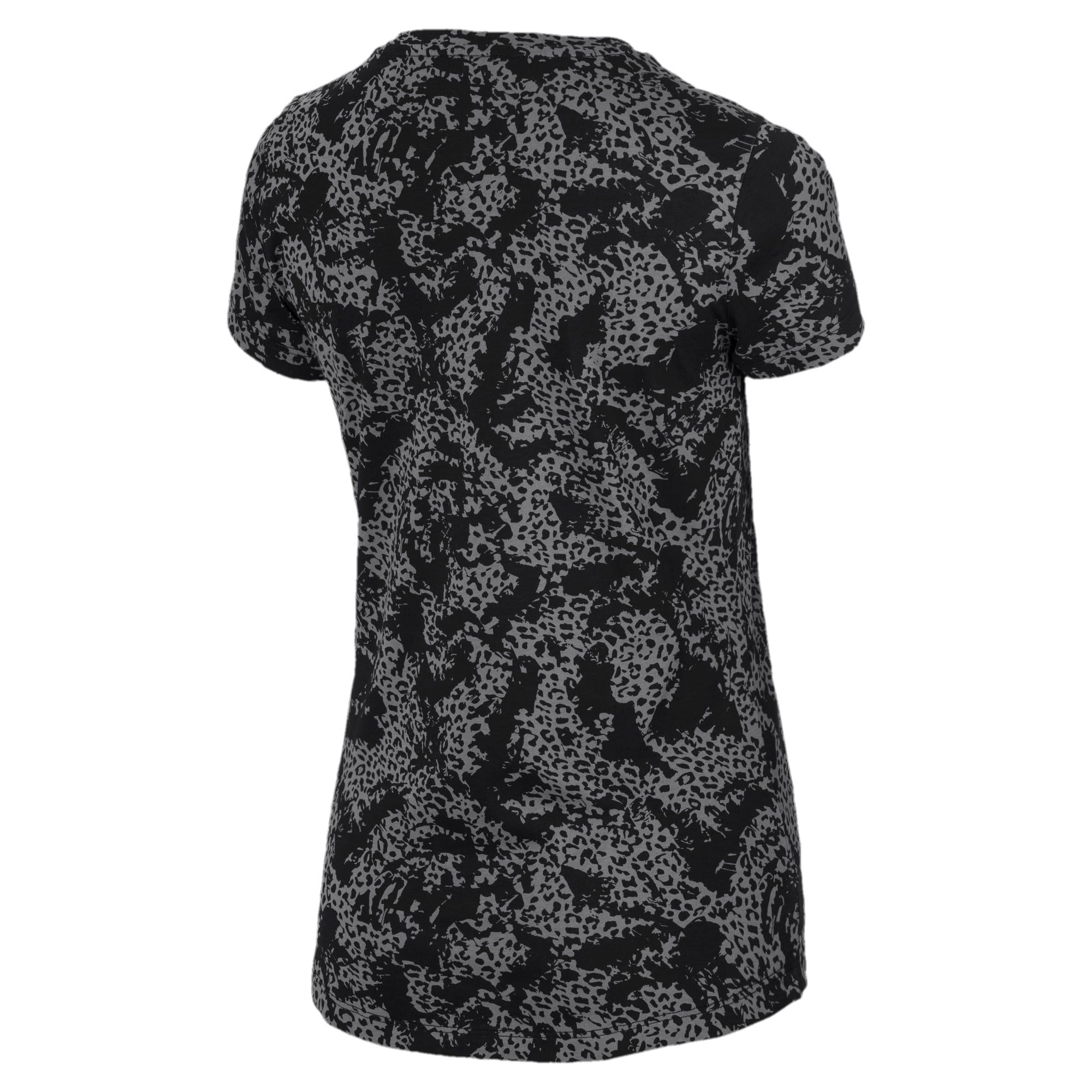 Thumbnail 5 of Elevated Essentials All-Over Print Women's Tee, Puma Black, medium-IND