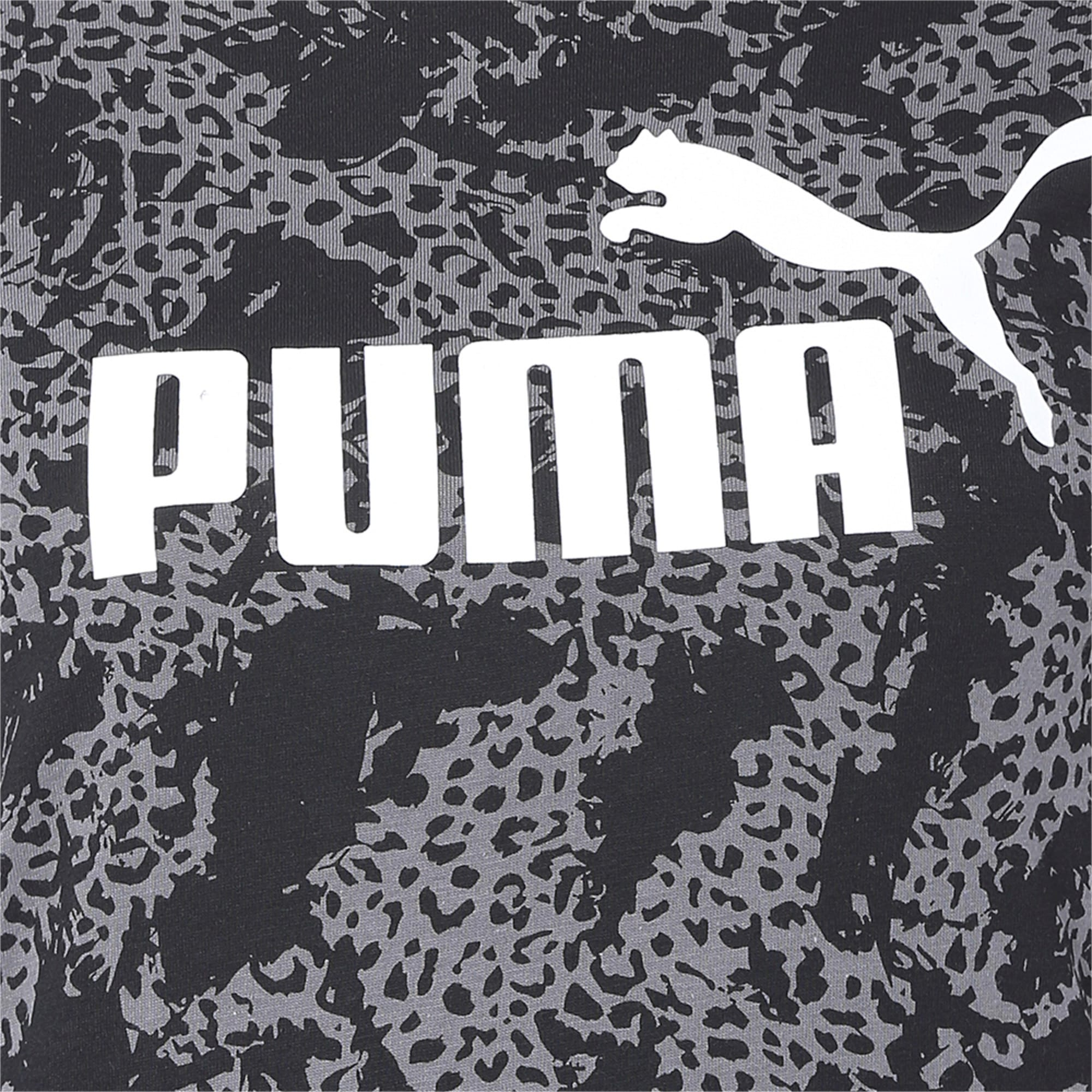 Thumbnail 6 of Elevated Essentials All-Over Print Women's Tee, Puma Black, medium-IND