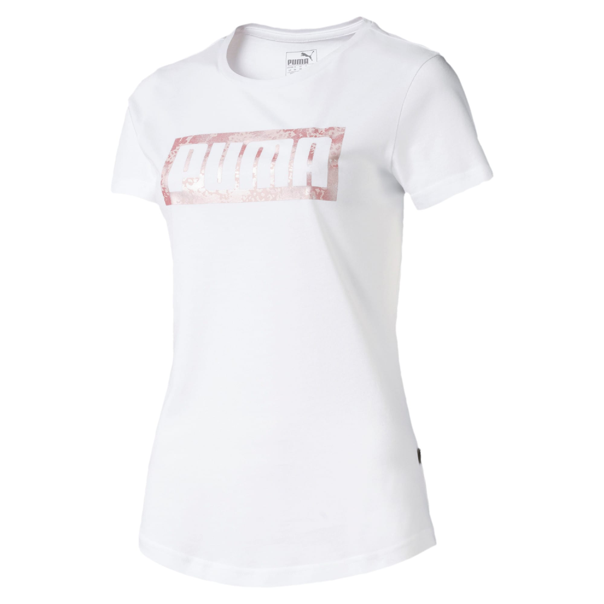 Graphic Logo Women's Tee, Puma White, large-IND