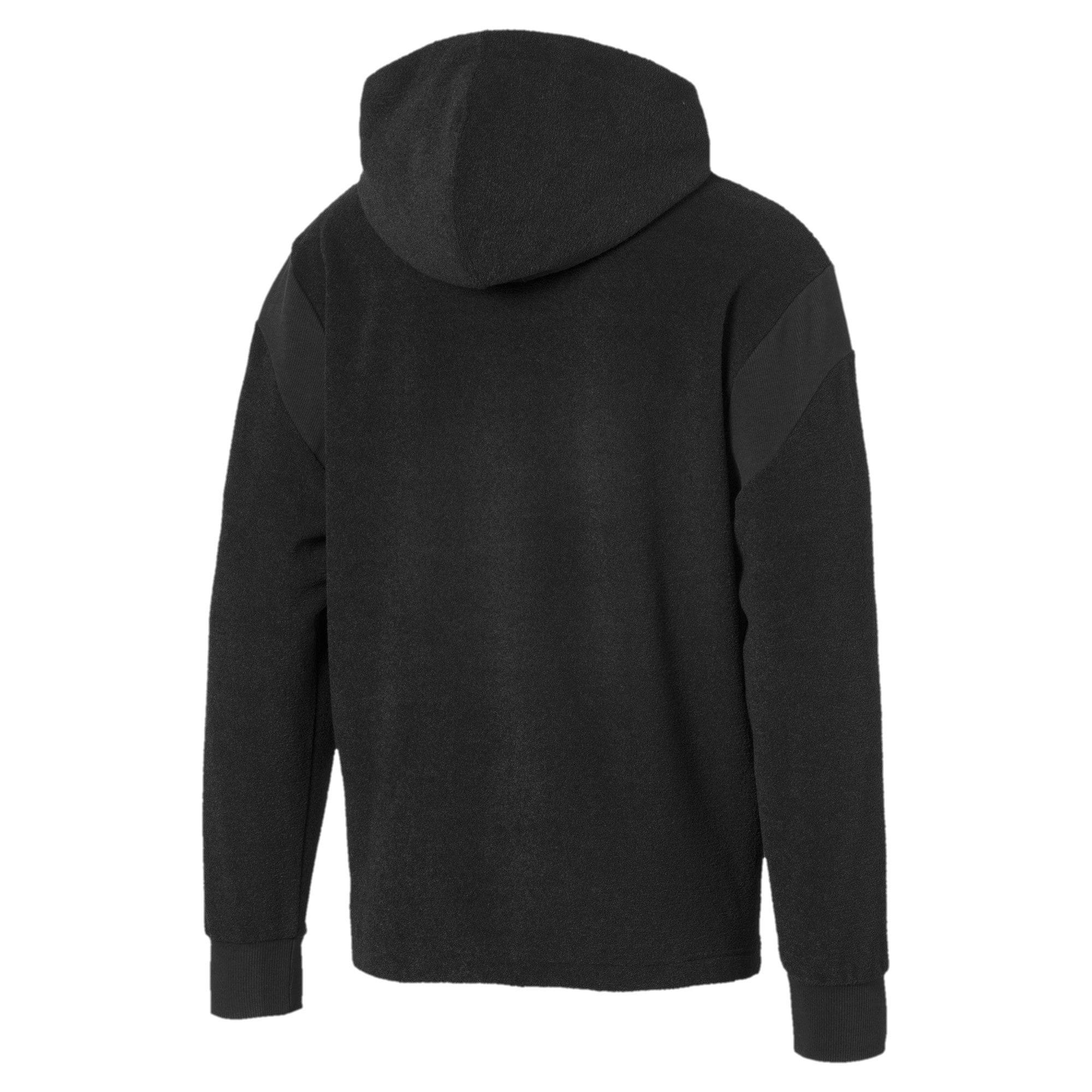 Thumbnail 5 of Fusion Fleece Hooded Men's Sweat Jacket, Puma Black, medium-IND