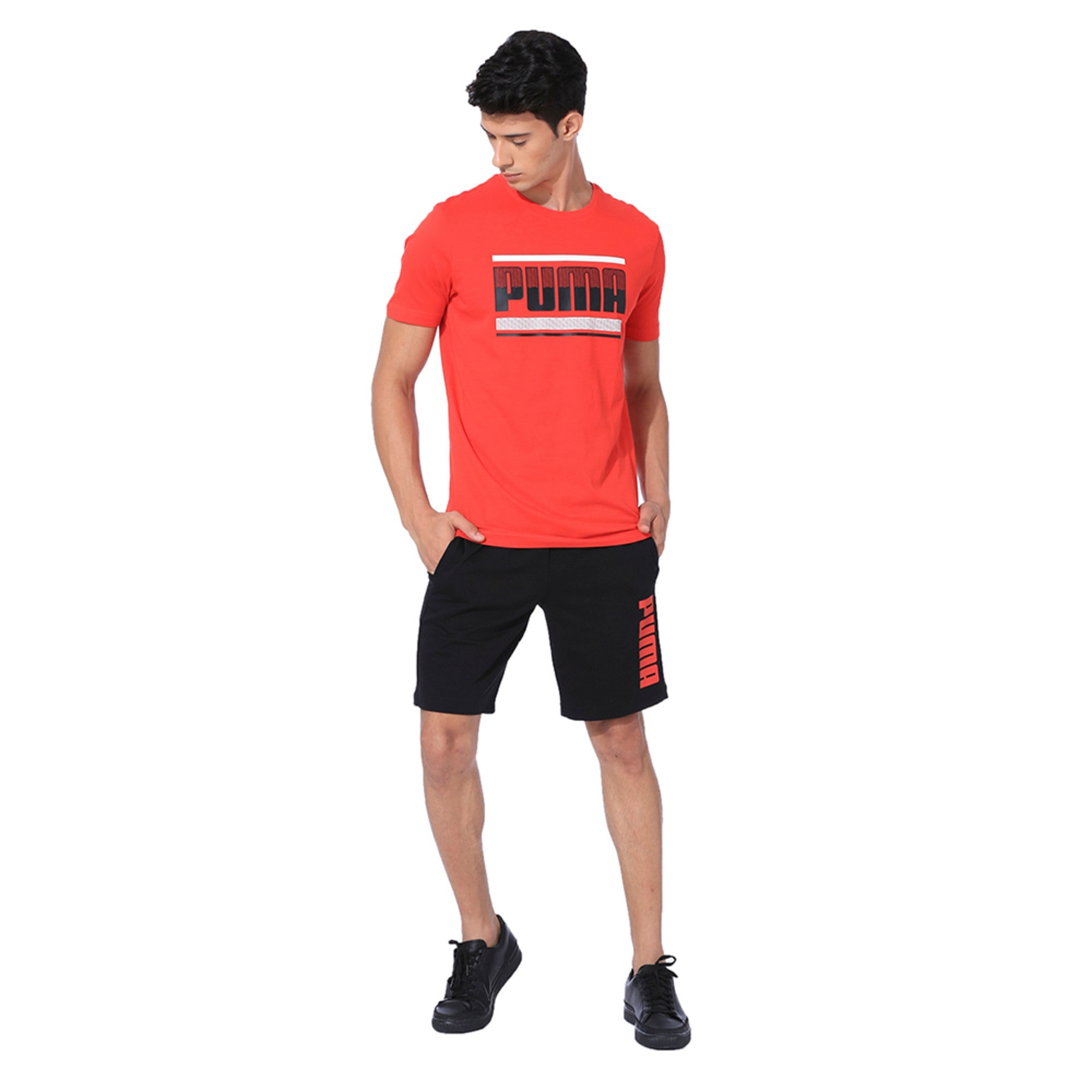 Thumbnail 3 of Graphic Short Sleeve Men's Tee, High Risk Red, medium-IND