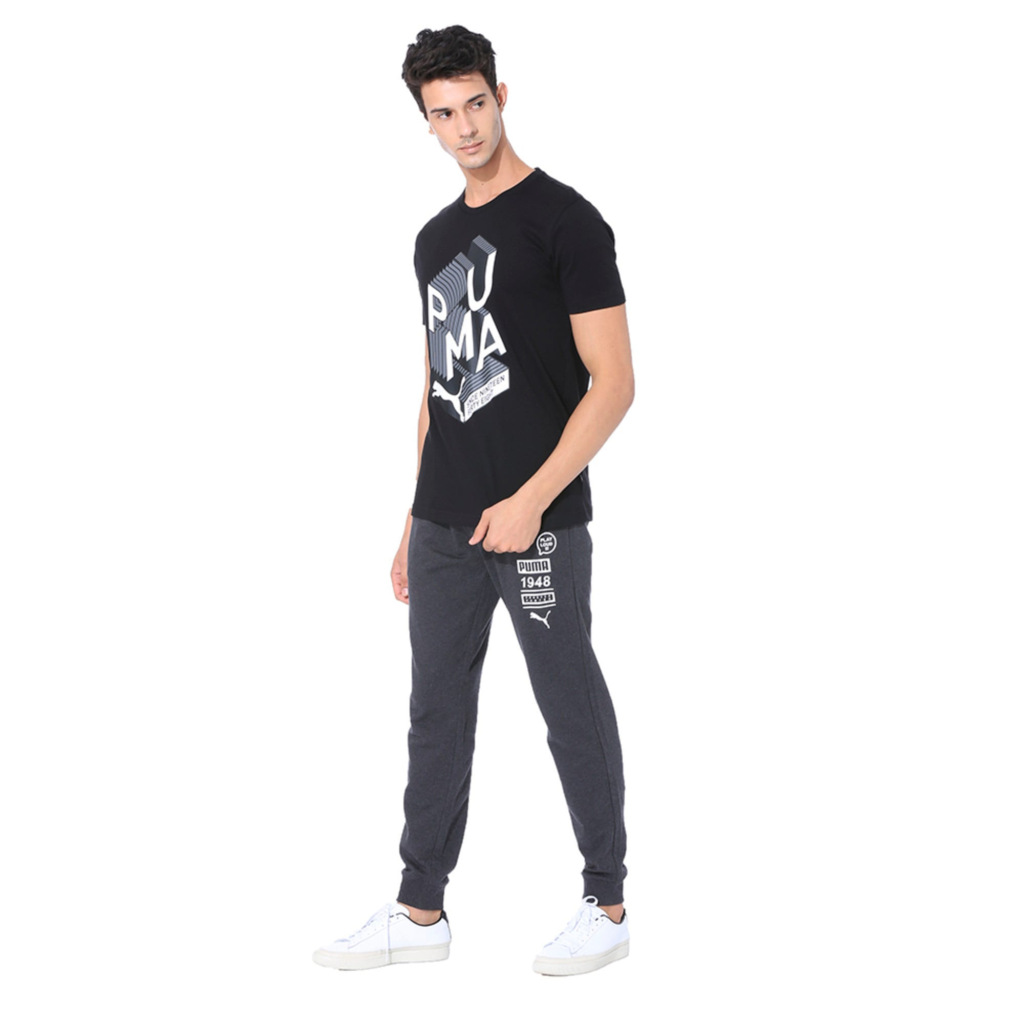 Men's Graphic Effect Tee, Puma Black, large-IND
