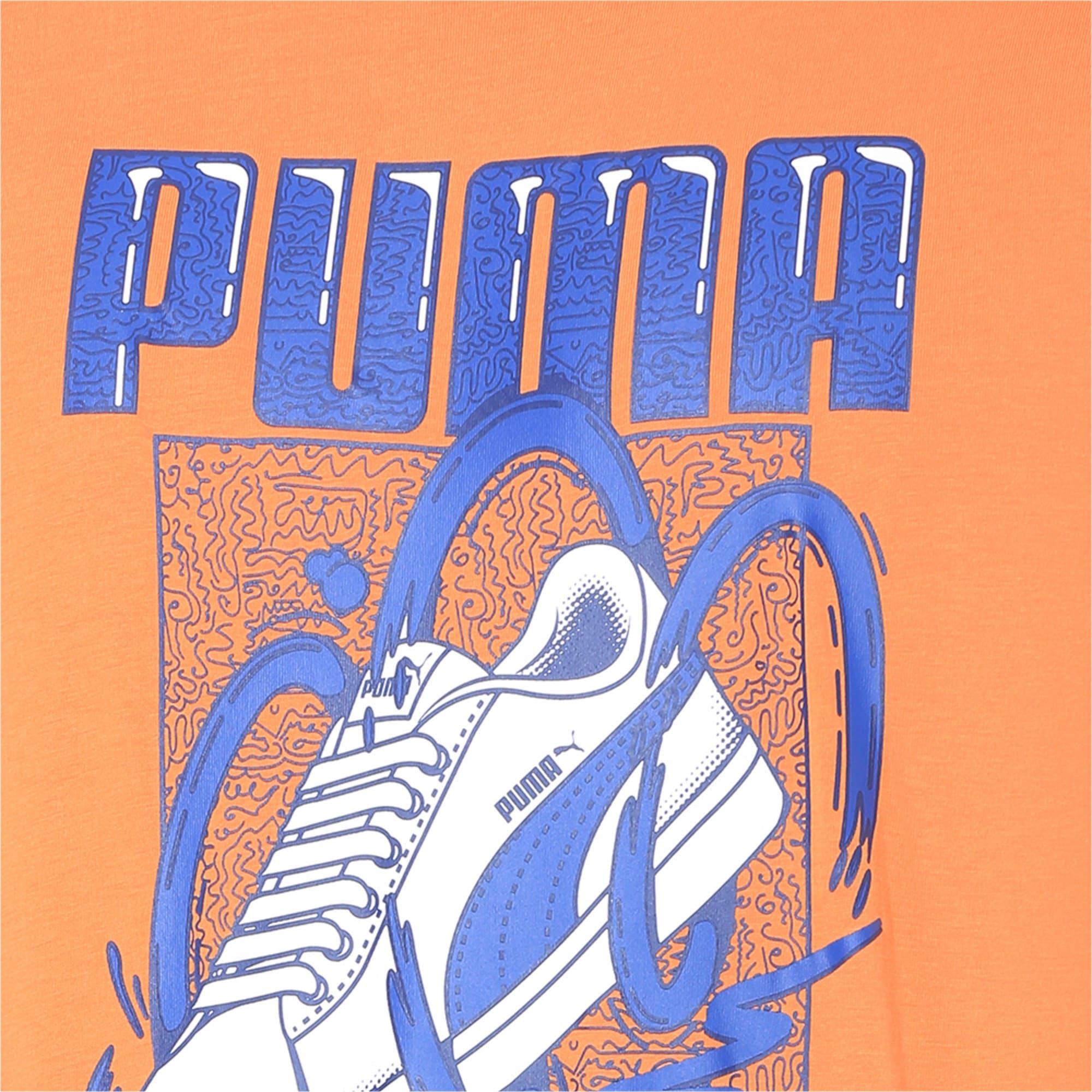 Thumbnail 6 of Sneaker Graphic Men's Tee, Jaffa Orange, medium-IND