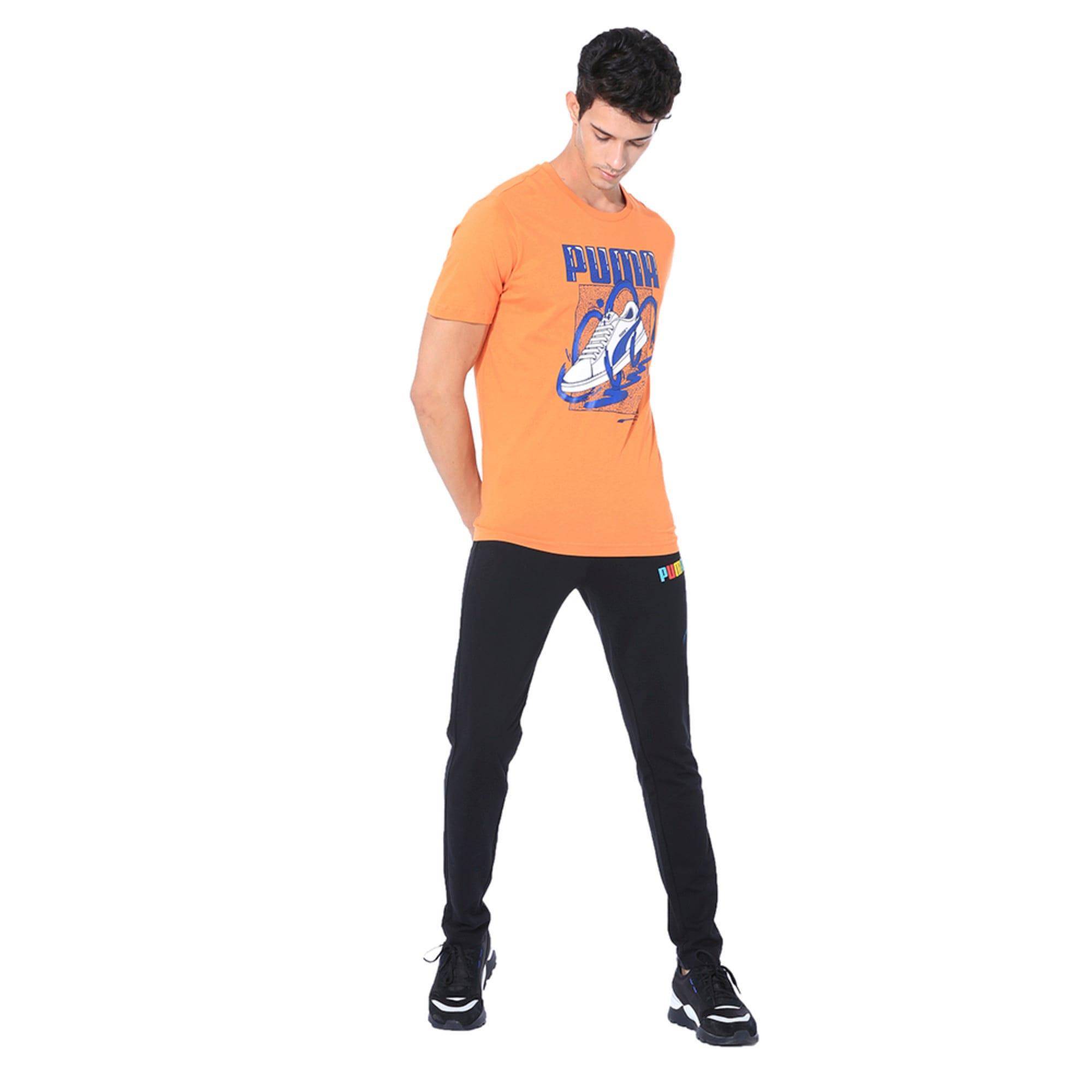 Thumbnail 3 of Sneaker Graphic Men's Tee, Jaffa Orange, medium-IND